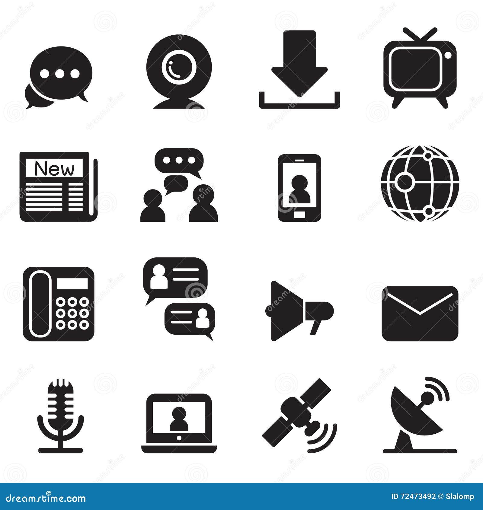 Icone di tecnologia della comunicazione