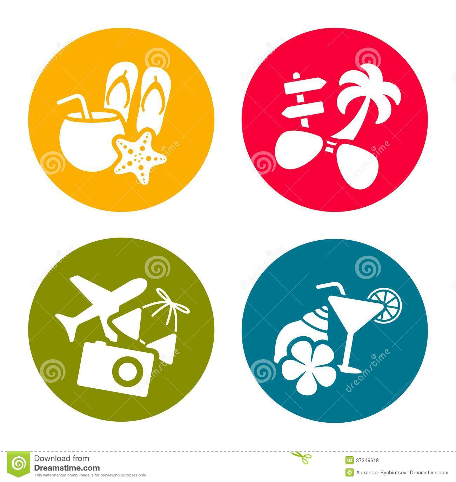 Icone di tema di estate