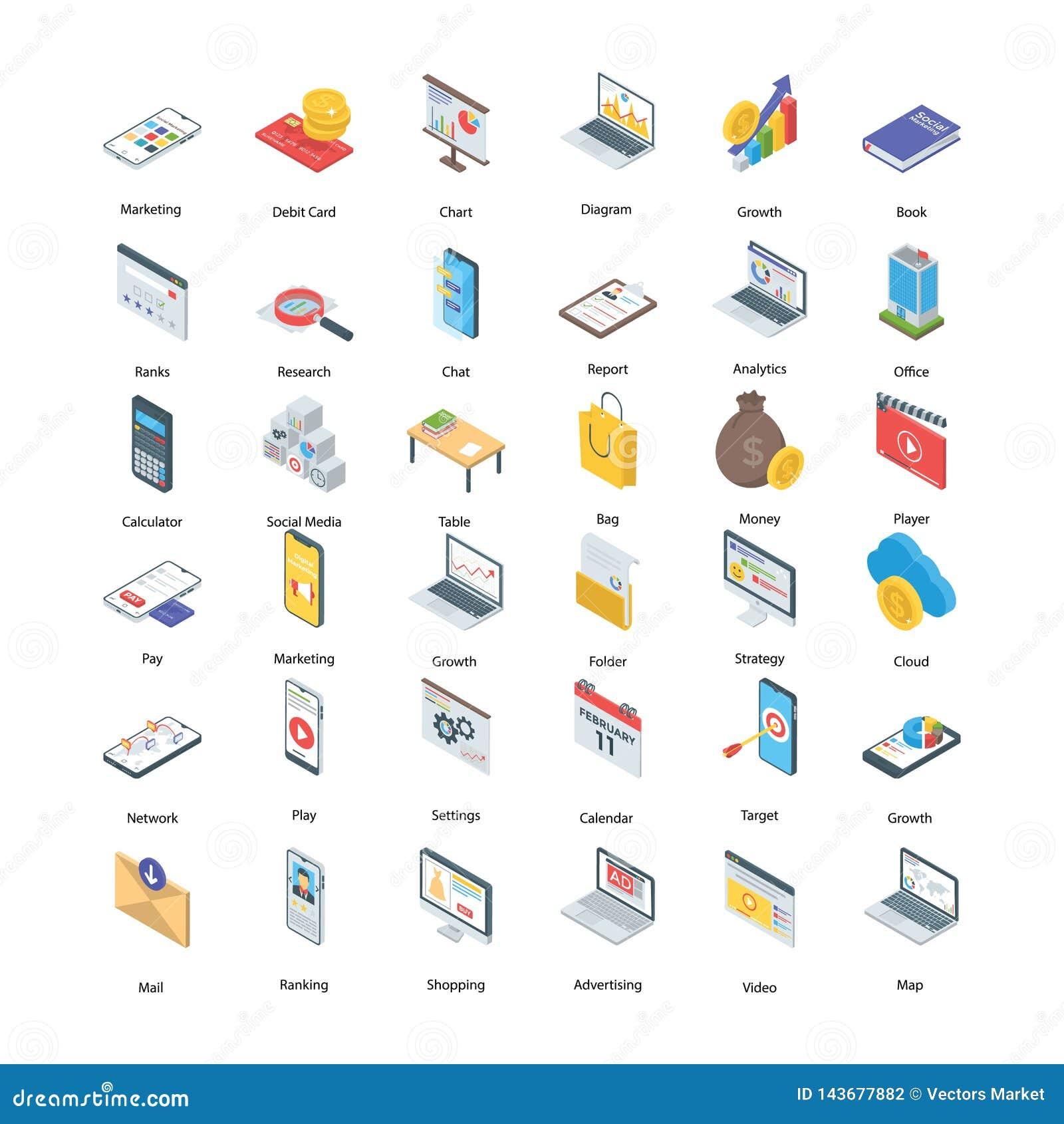 Icone di vendita di Digital messe