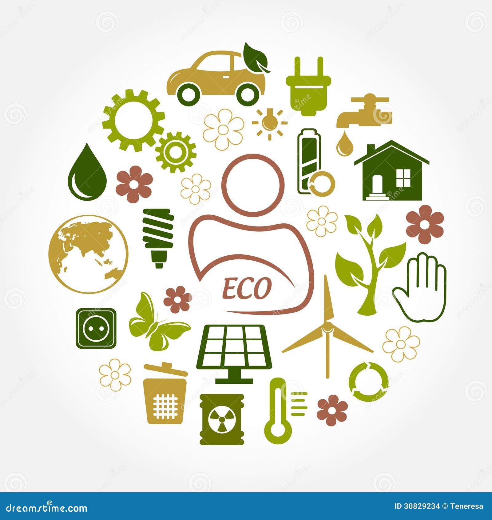 Icone di verde di Eco