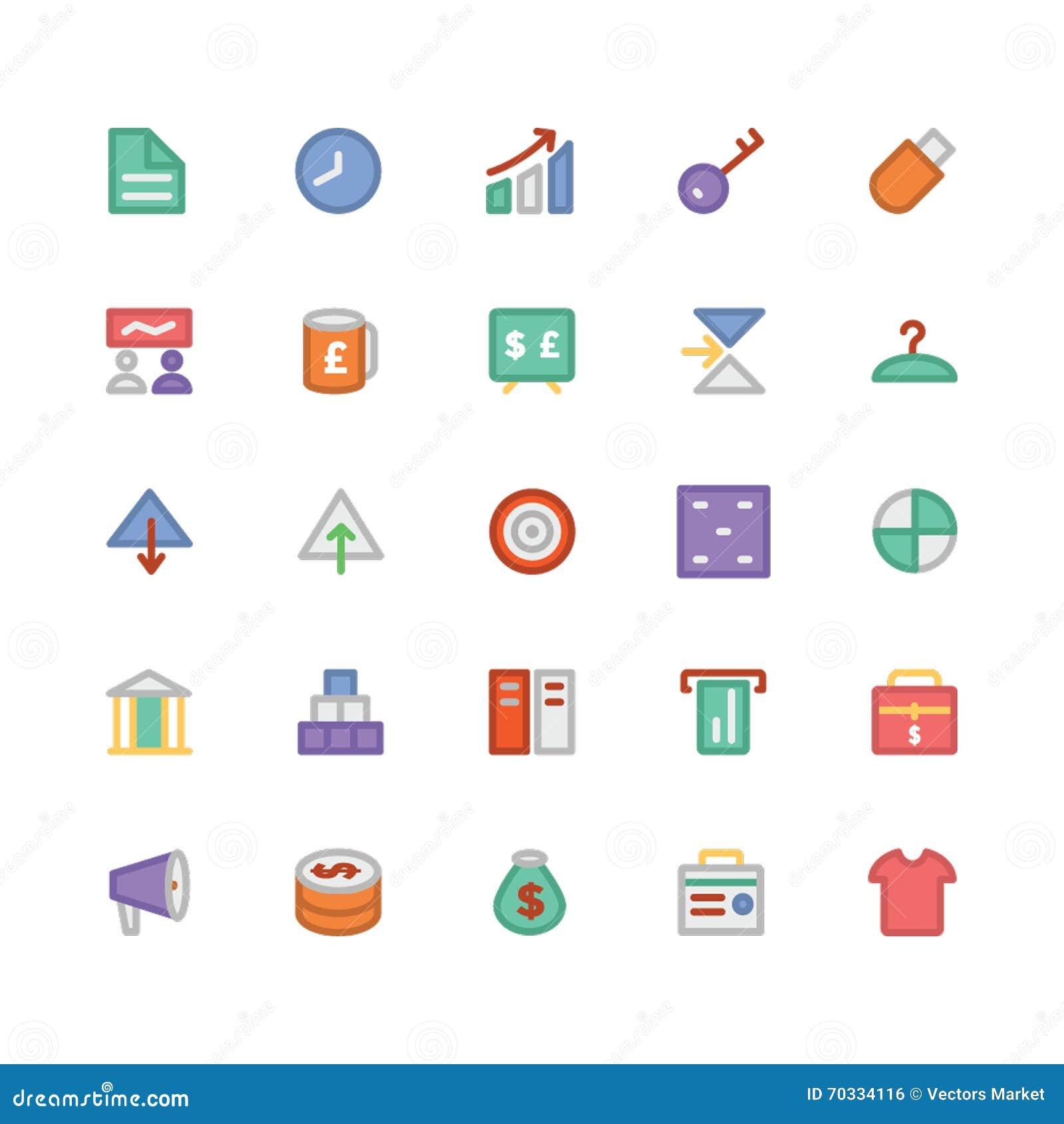 Icone 4 di vettore colorate commercio