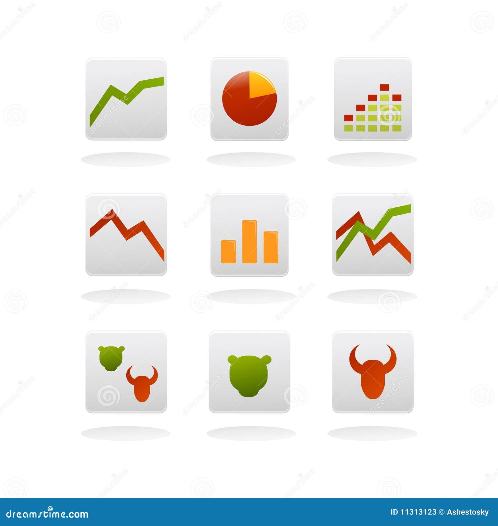 Icone di vettore di finanze
