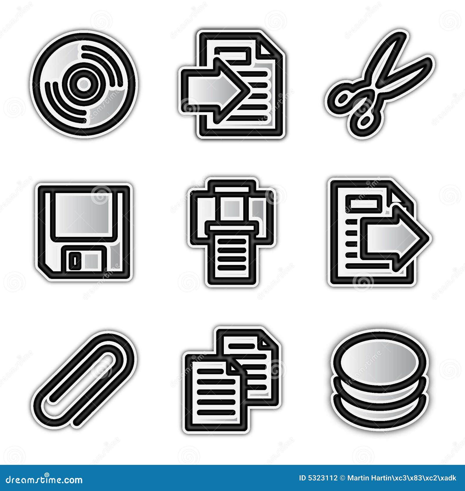 Download Icone Di Web Di Vettore, Archivi D'argento Di Profilo Illustrazione Vettoriale - Illustrazione di tasti, profilo: 5323112