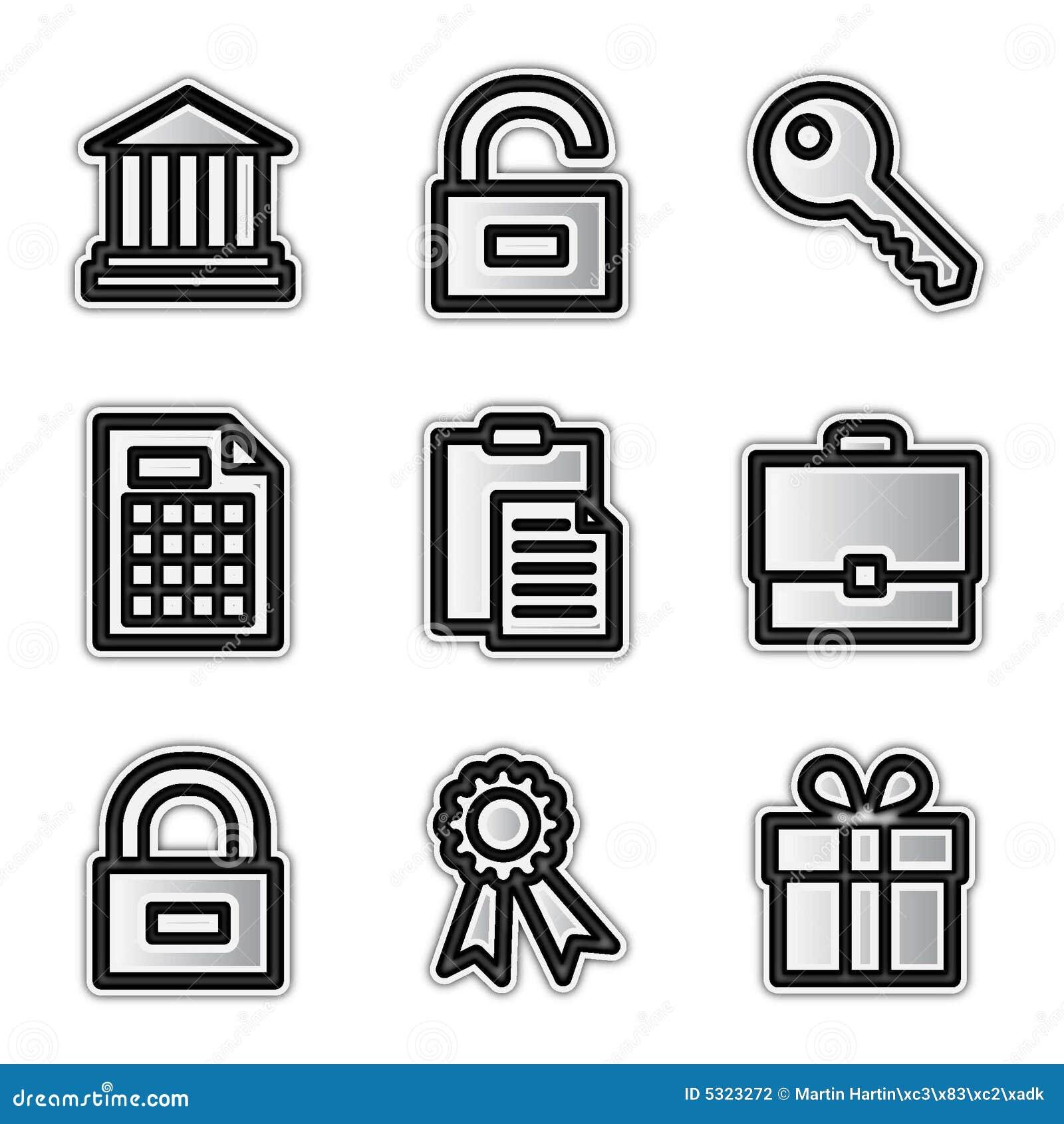 Download Icone Di Web Di Vettore, Conto D'argento Illustrazione Vettoriale - Illustrazione di serratura, segno: 5323272