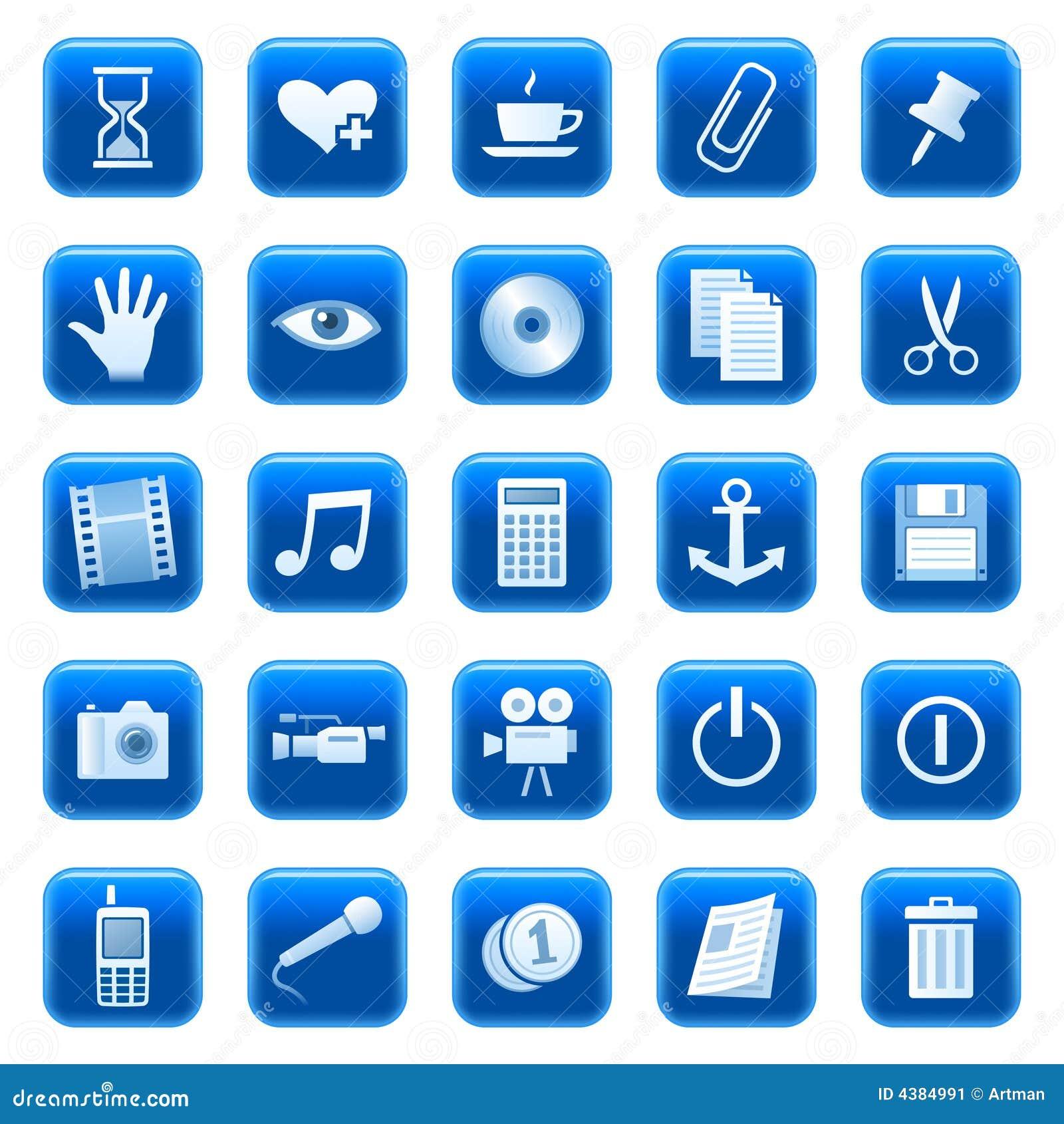 Icone di Web/tasti 3