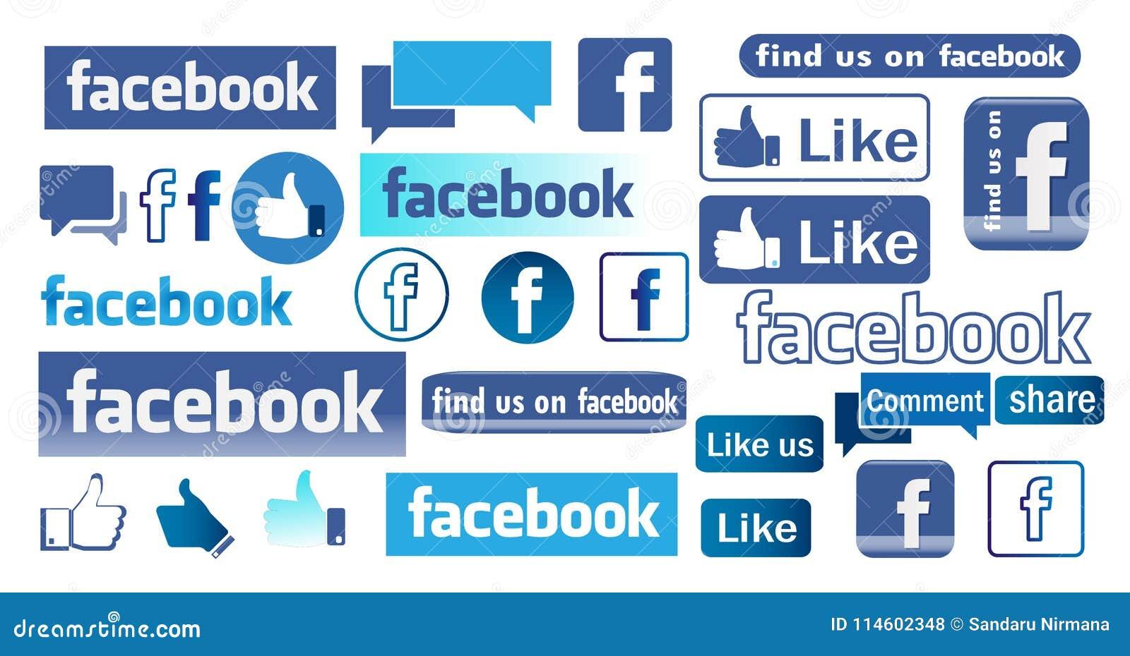 Icone e logo di Facebook