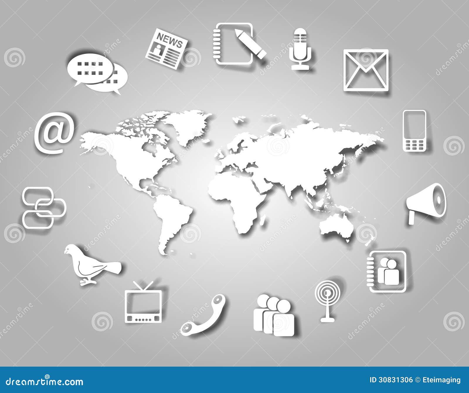 Icone e mondo di comunicazione