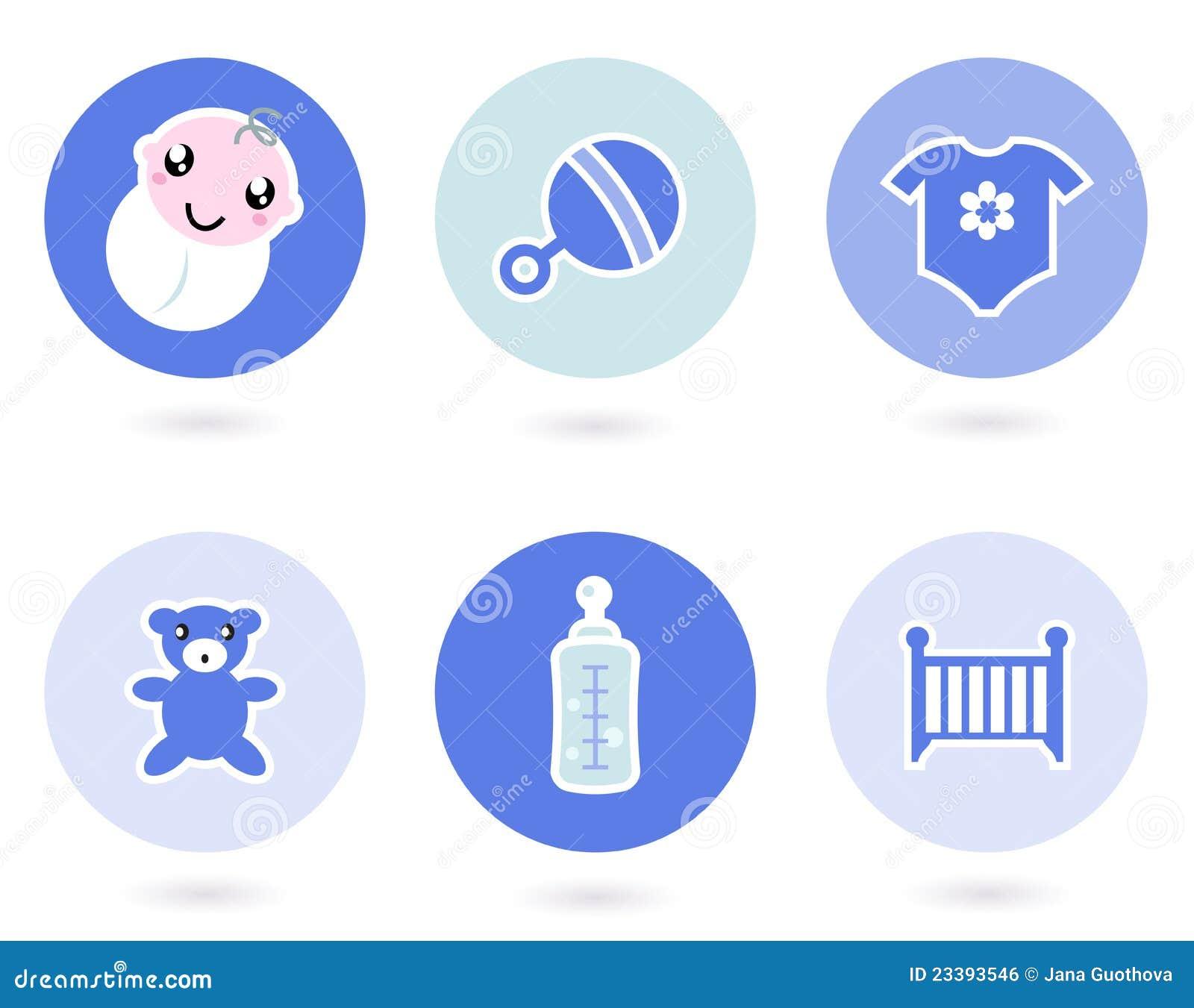 Icone ed oggetti per il neonato illustrazione vettoriale for Programmi per progettare oggetti