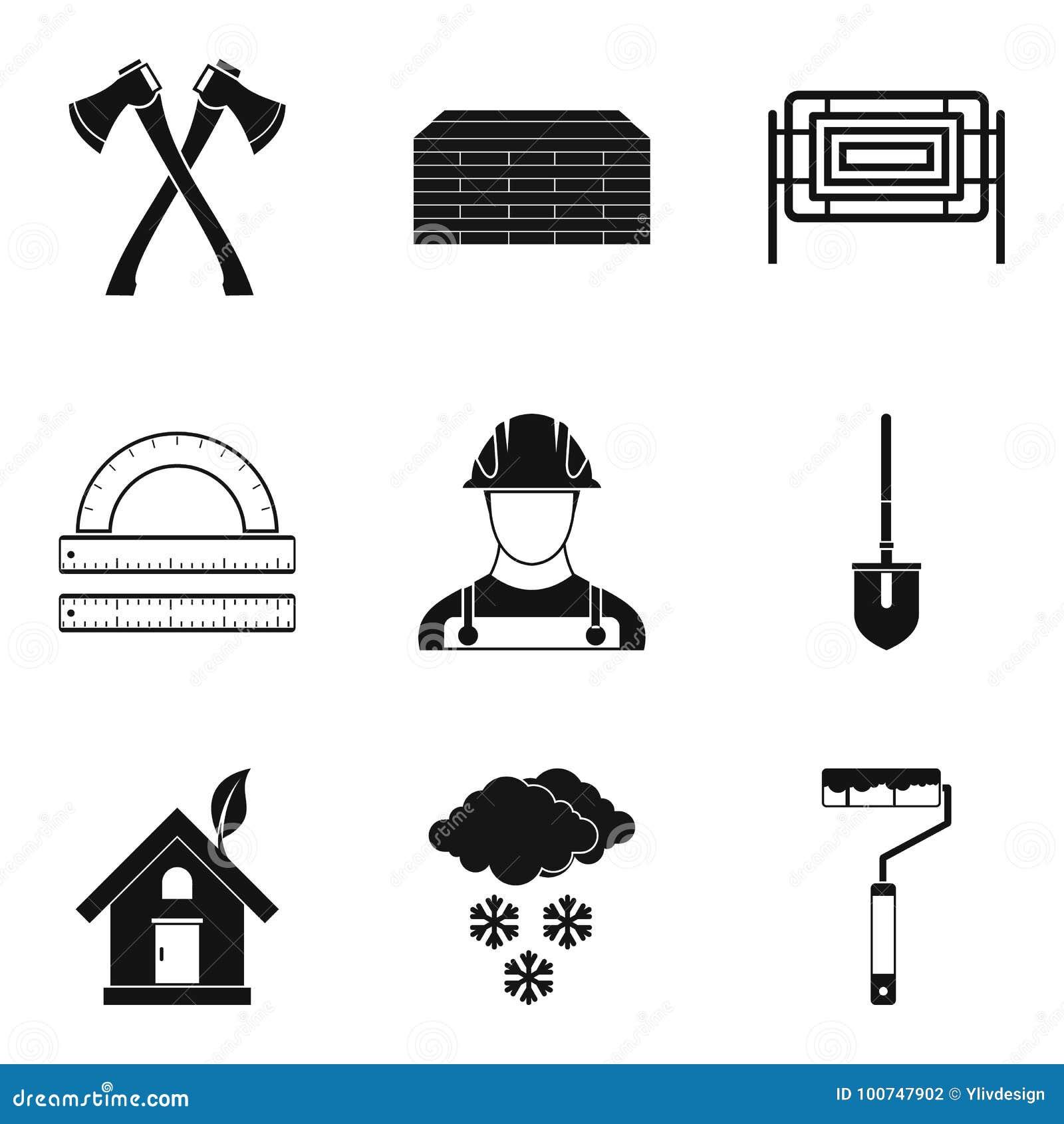 Icone esterne messe, stile semplice di rifinitura