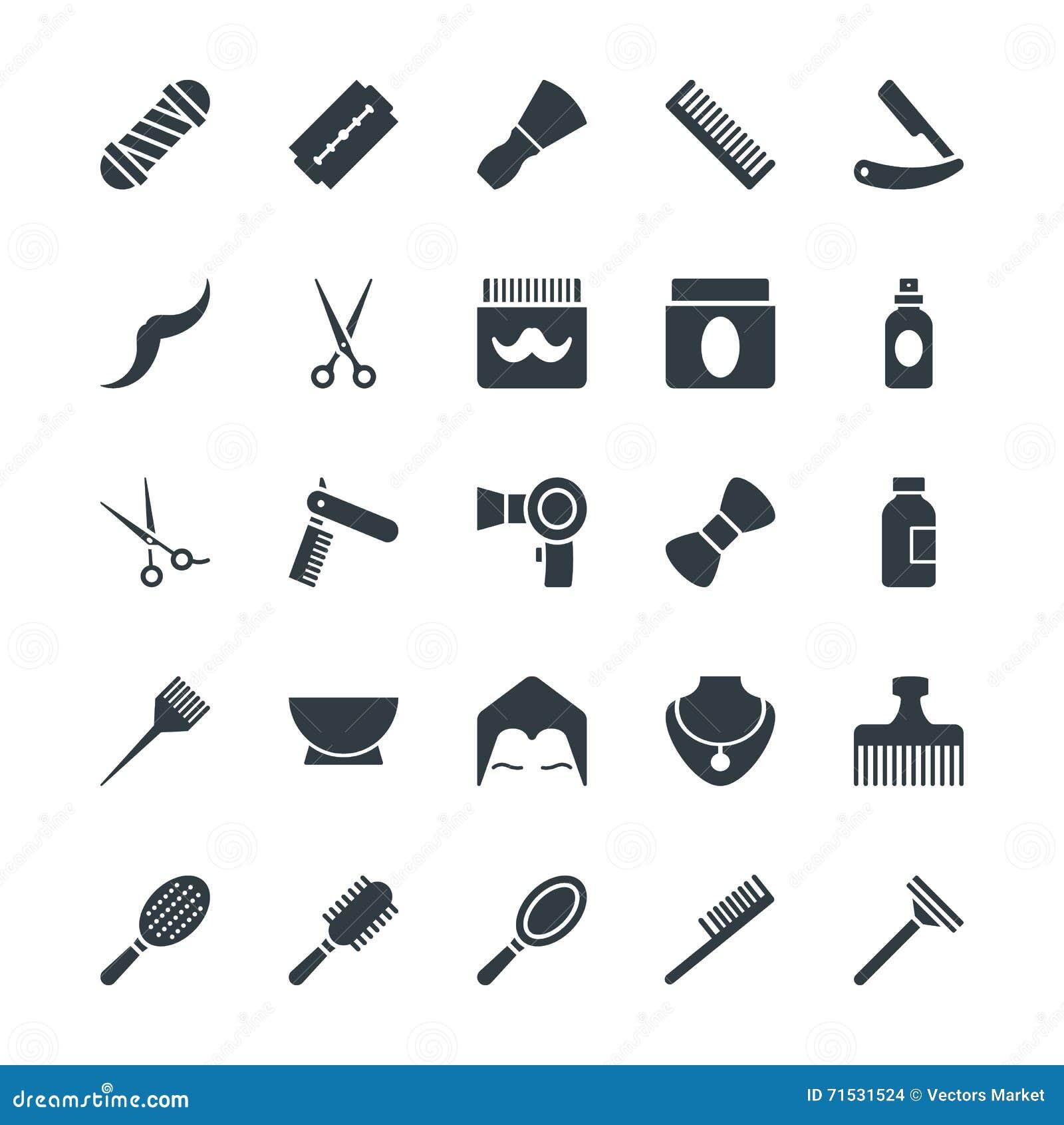 Icone fresche 1 di vettore del salone di capelli