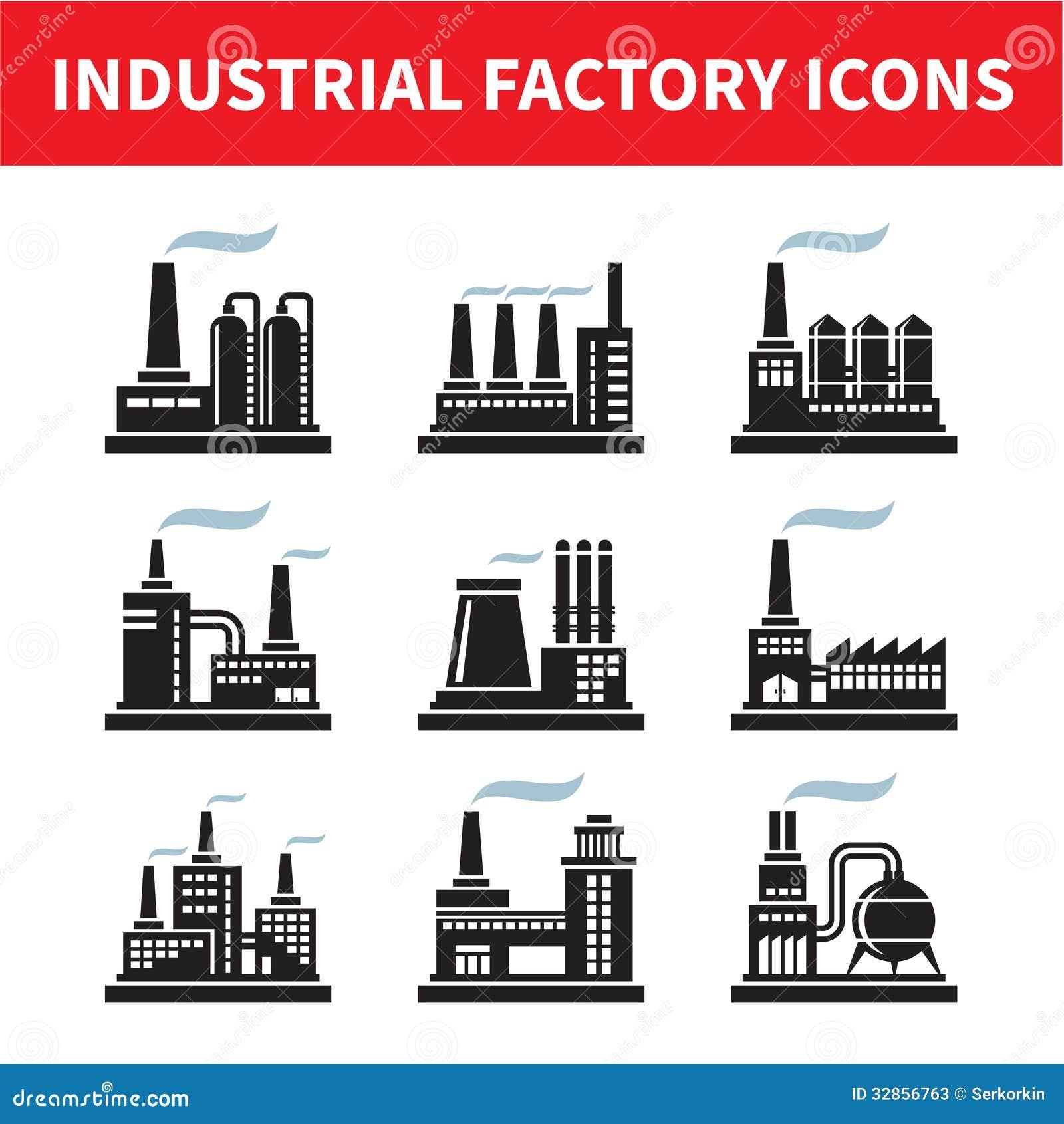 Icone industriali della fabbrica