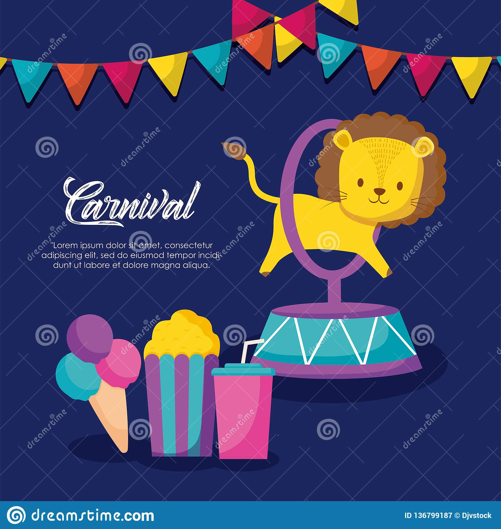 Icone infographic di celebrazione di carnevale