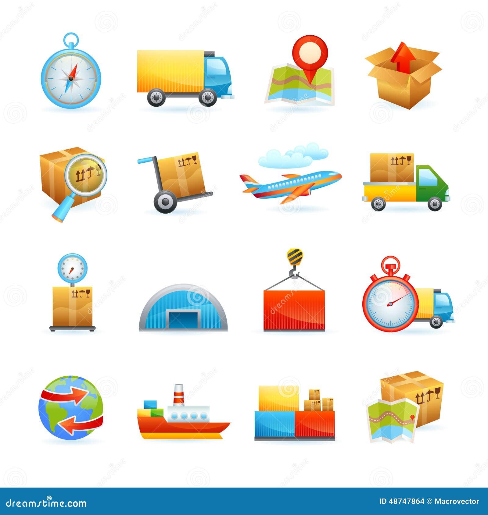 Icone logistiche impostate