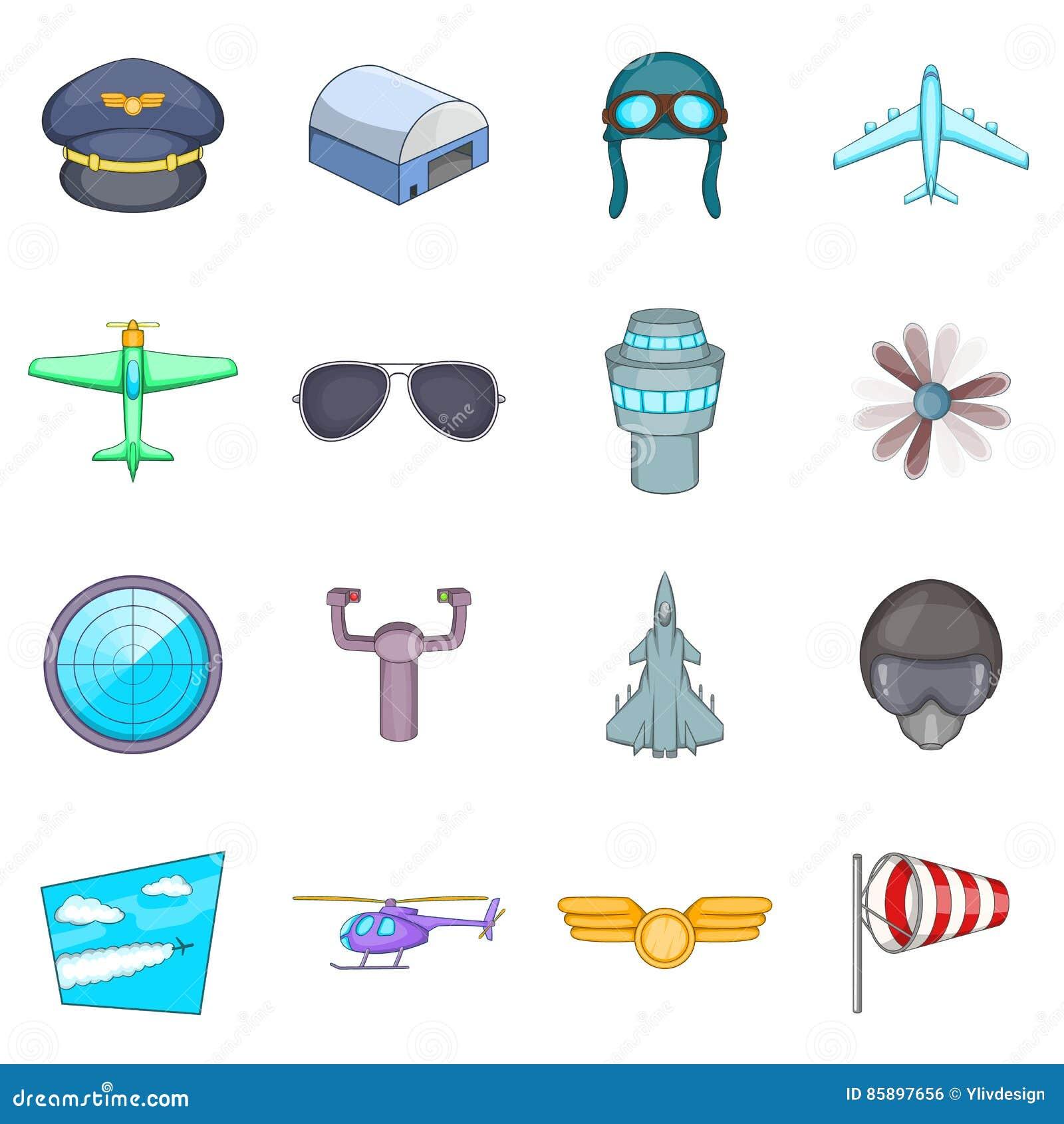 Icone messe, stile di aviazione del fumetto