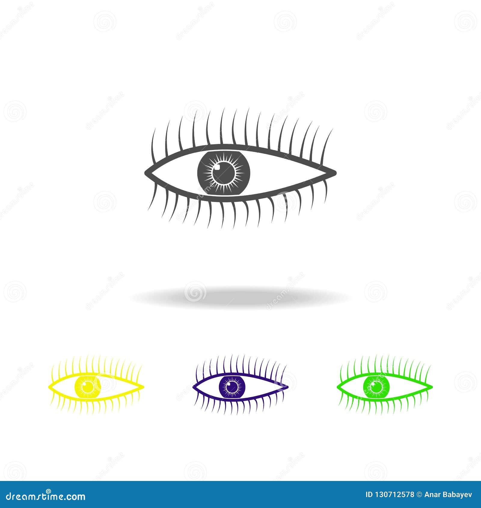 Icone multicolori dell organo dell occhio umano Elemento delle icone multicolori delle parti del corpo Segni ed icona per i siti