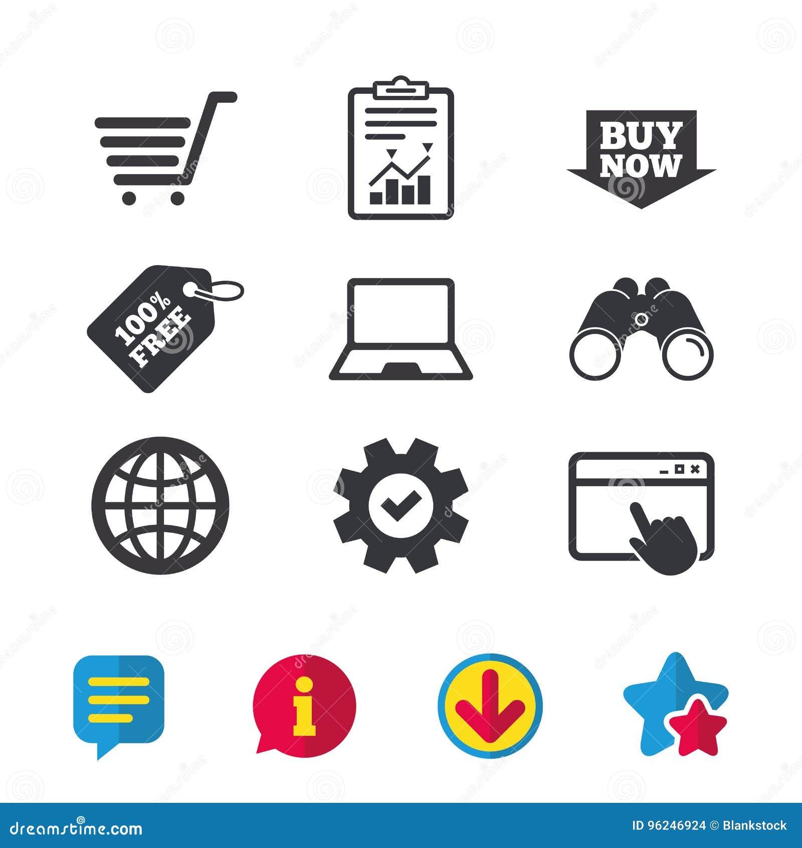 73b675cc577c1f Icone online di acquisto Notebook PC, carrello, dell'affare freccia ora e  segni di Internet Simbolo del globo di WWW Finestra di browser, segni di  servizio ...