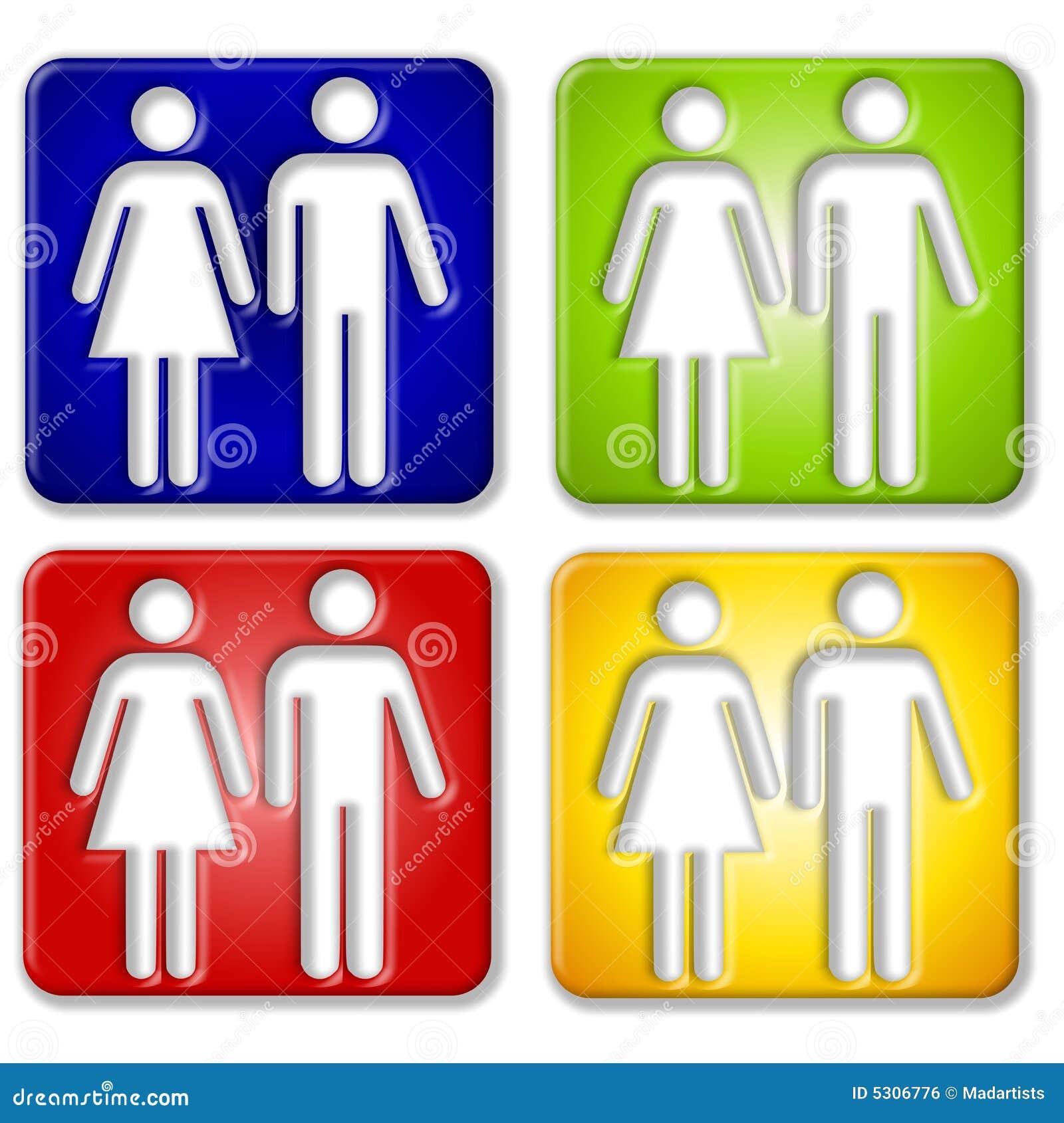 Download Icone Quadrate Femminili Maschii Illustrazione di Stock - Illustrazione di clip, yellow: 5306776