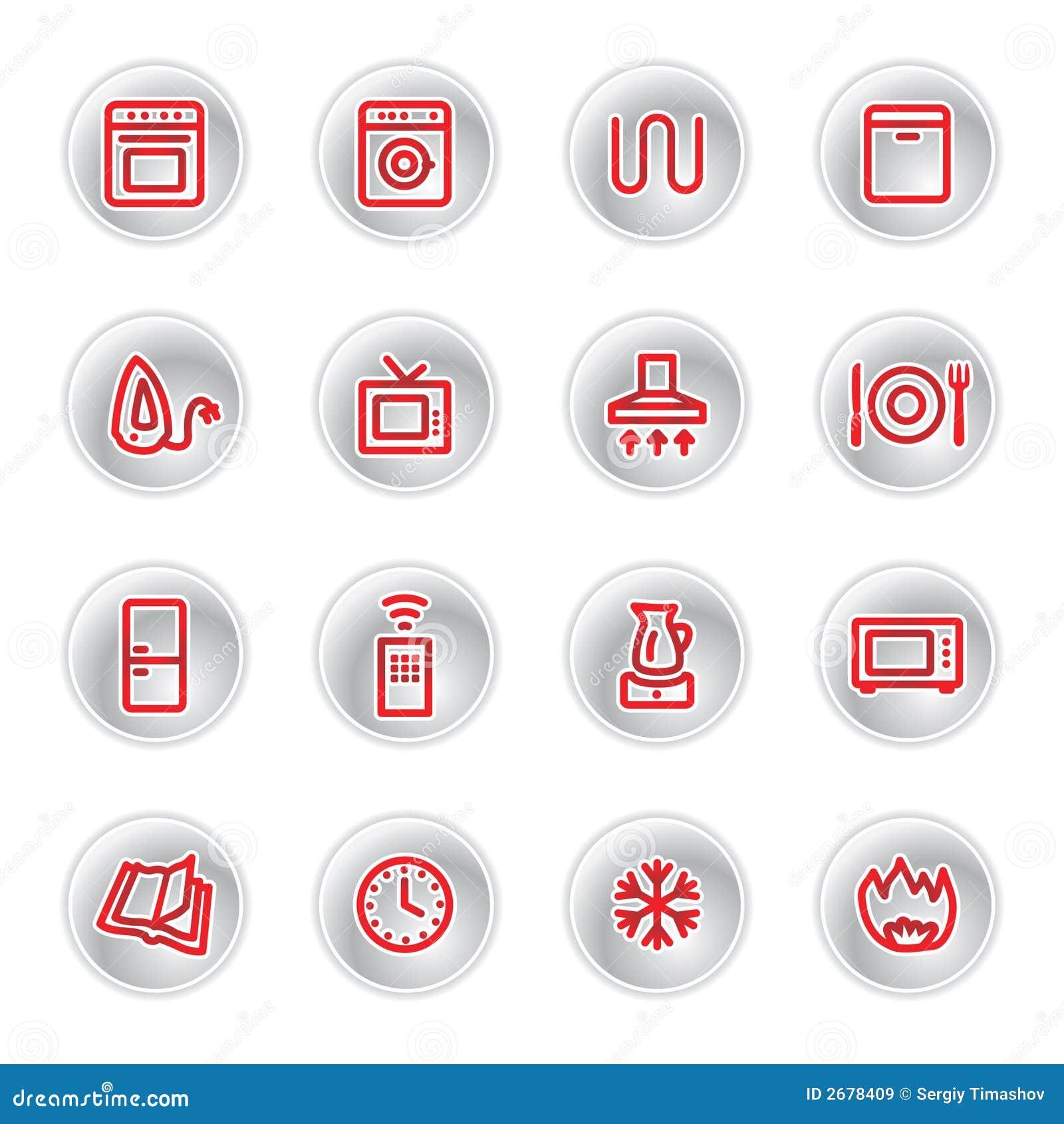 Icone rosse degli elettrodomestici immagini stock libere - Immagini di elettrodomestici ...