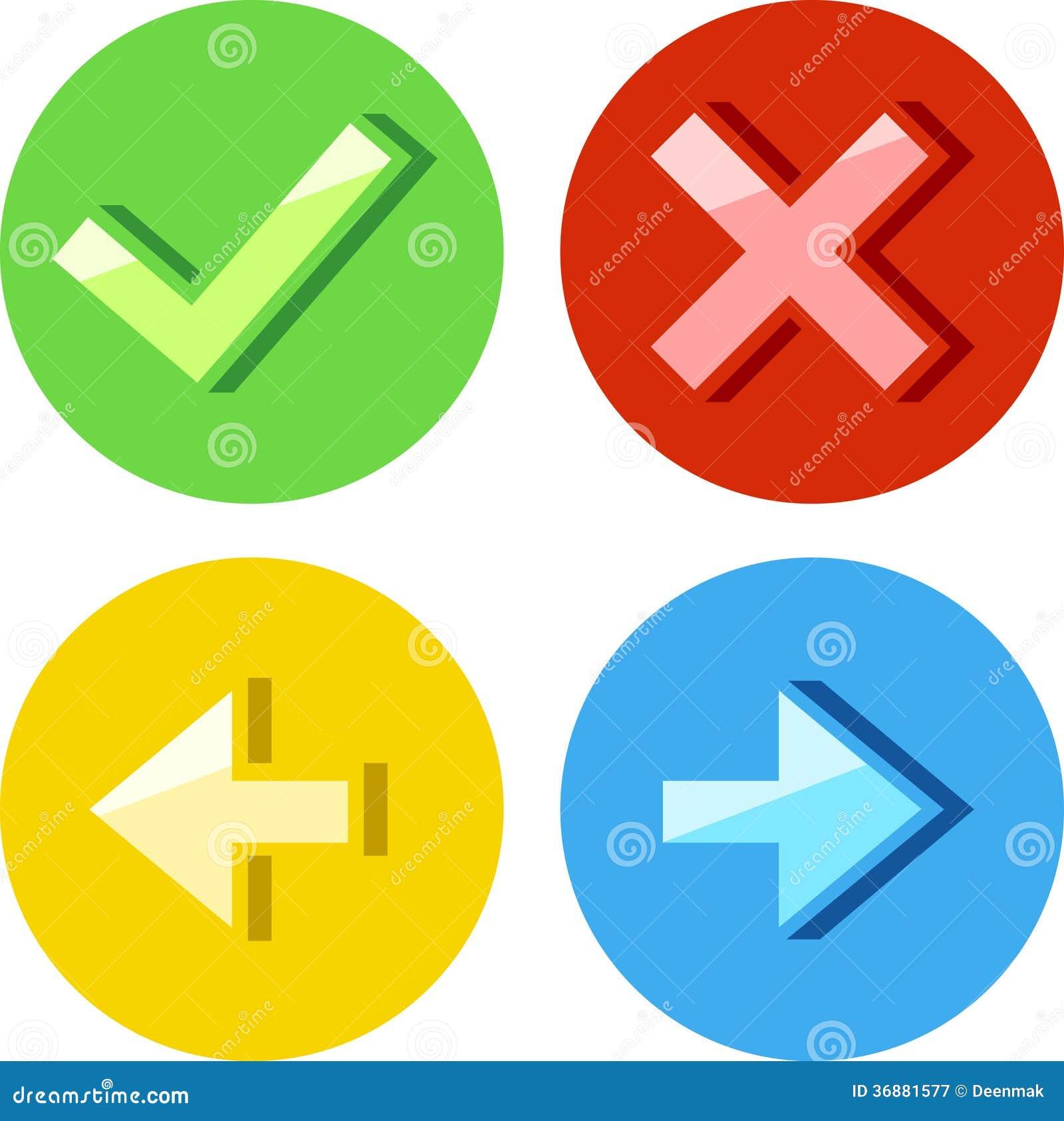Download Icone rotonde messe illustrazione vettoriale. Illustrazione di scarto - 36881577