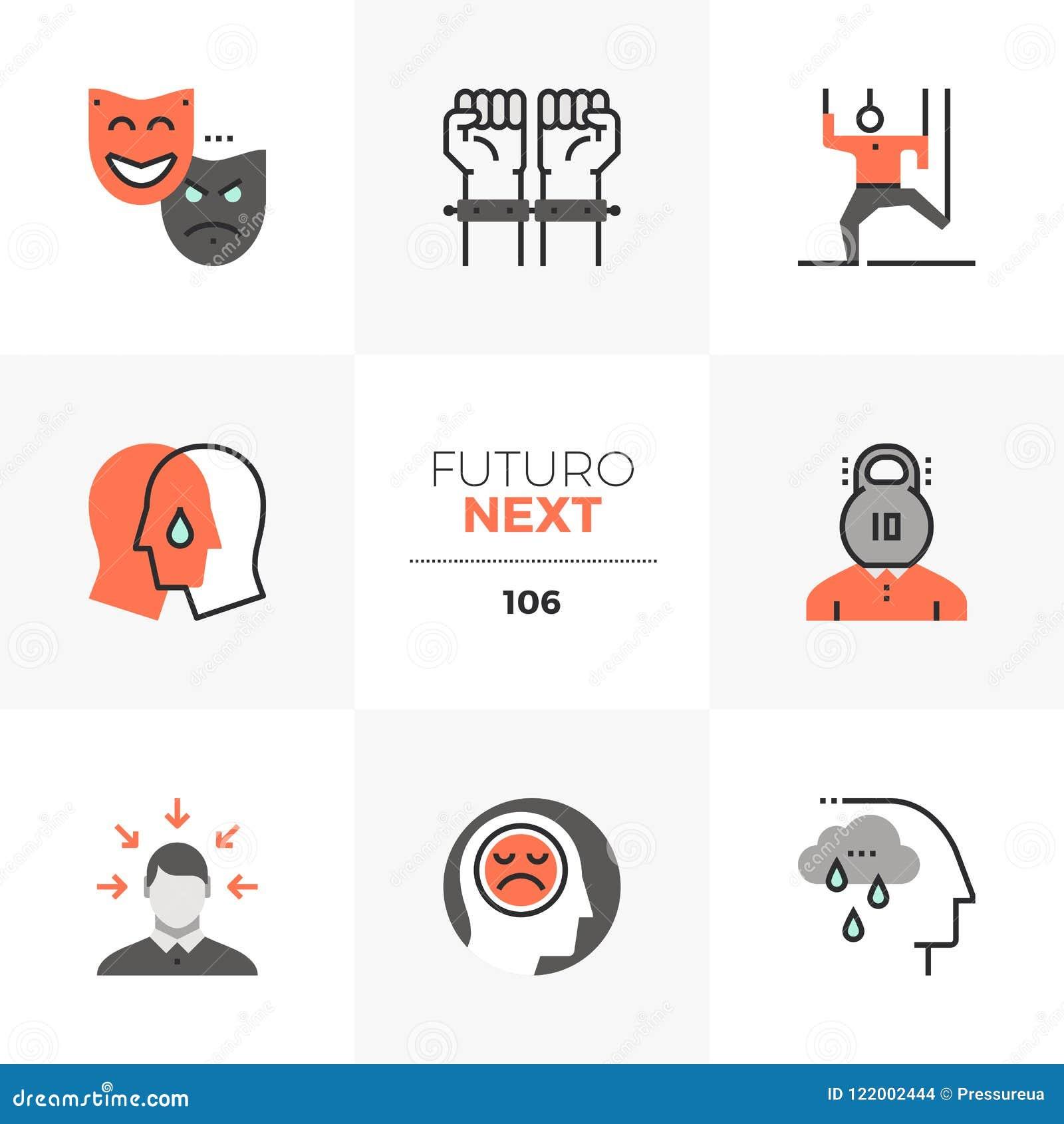 Icone seguenti di Futuro di problema mentale