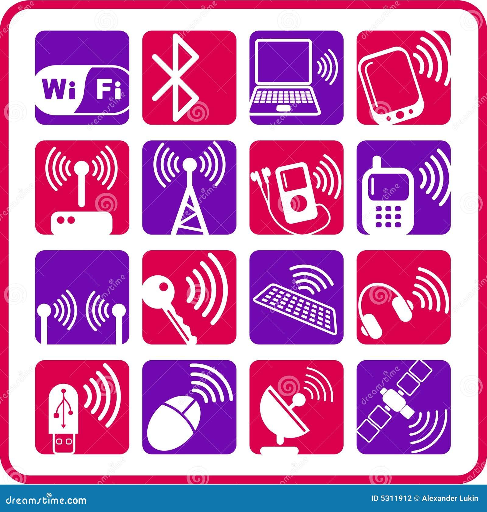 Download Icone senza fili fotografia editoriale. Illustrazione di antenna - 5311912