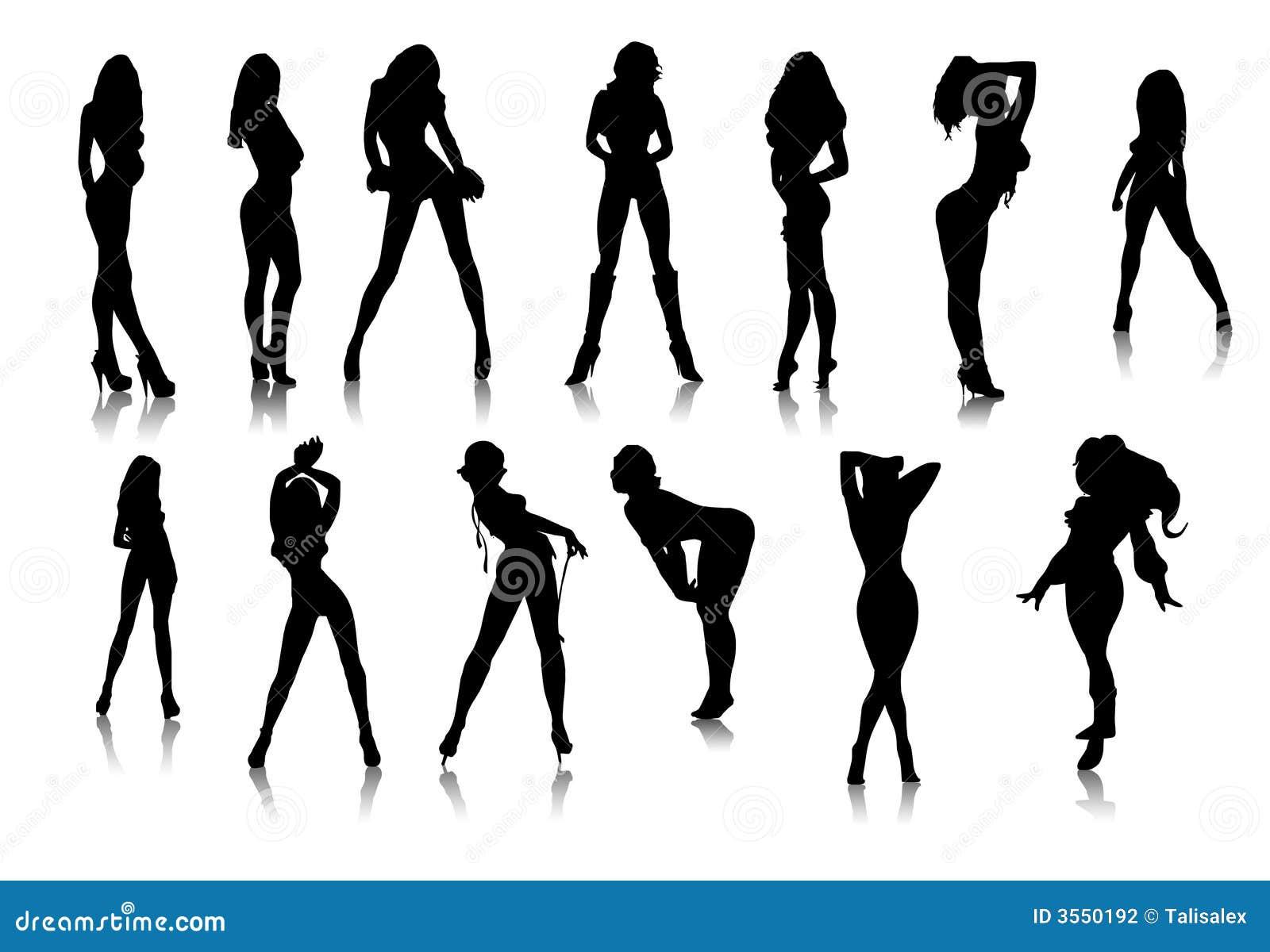 Icone sexy nere delle ragazze