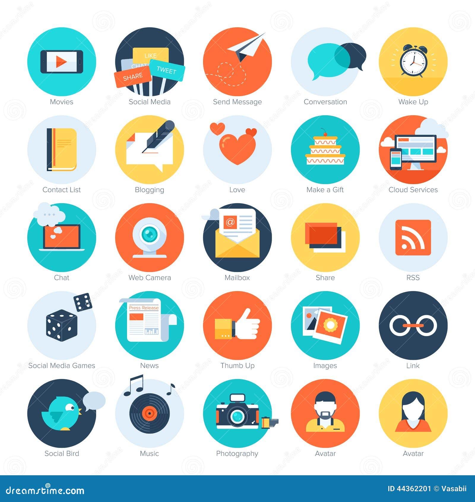 Icone sociali di media