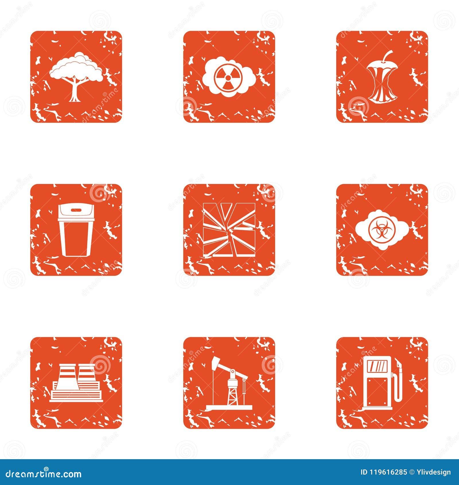 Icone tecniche messe, stile di clima di lerciume