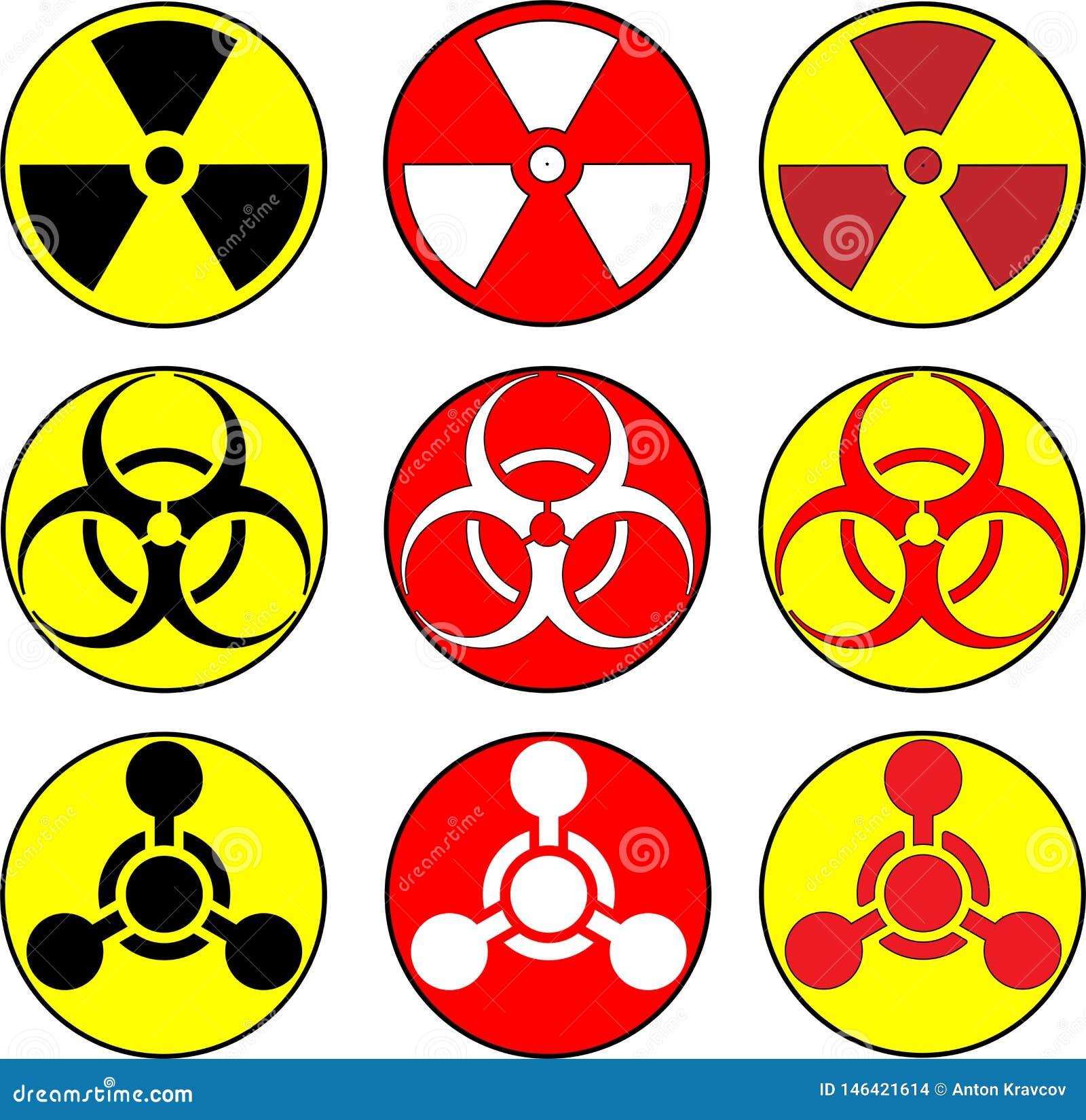 Icone tossiche e bio- di radiazione, di hazzard