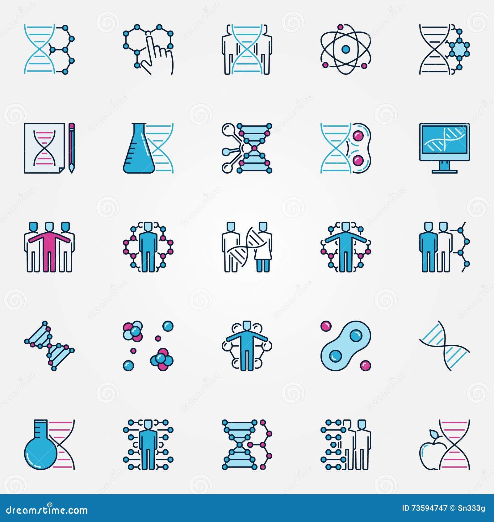 Icone variopinte di Biotech
