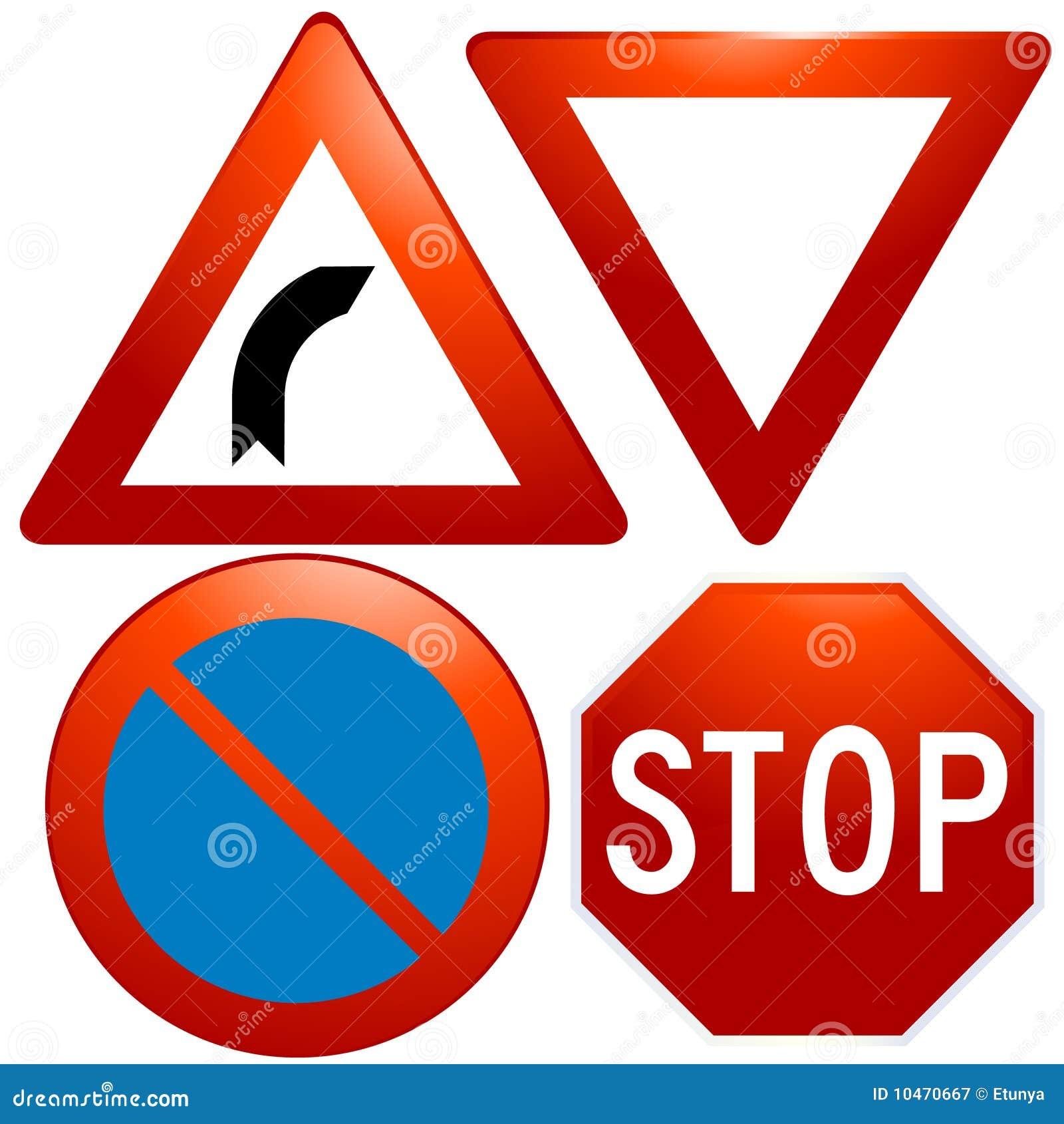 Icone vetrose del segnale stradale di vettore