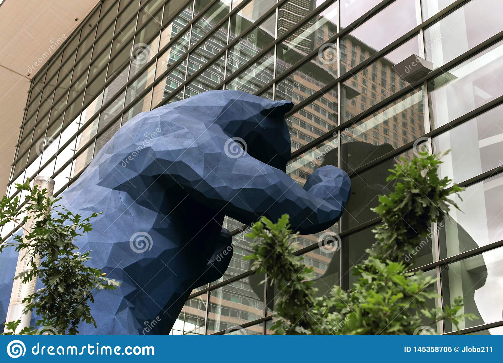 Huge Blue Bear At The Colorado Convention Center Editorial