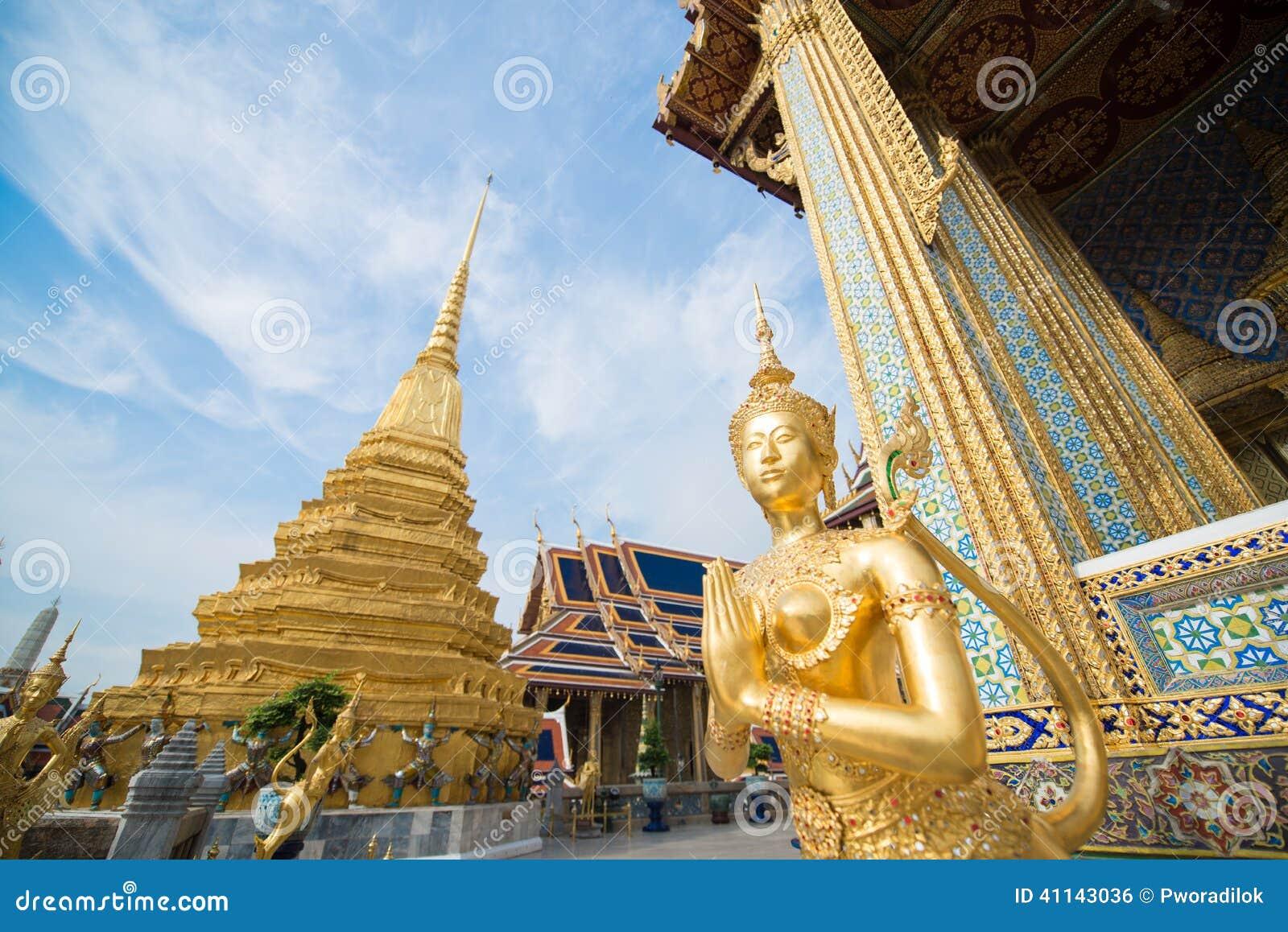 Iconic Golden Kinnari Stock Photo - Image: 41143036
