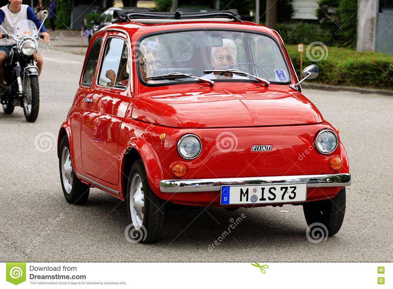 Iconic Italian Fiat 500 Mini Car Vintage Editorial Photography