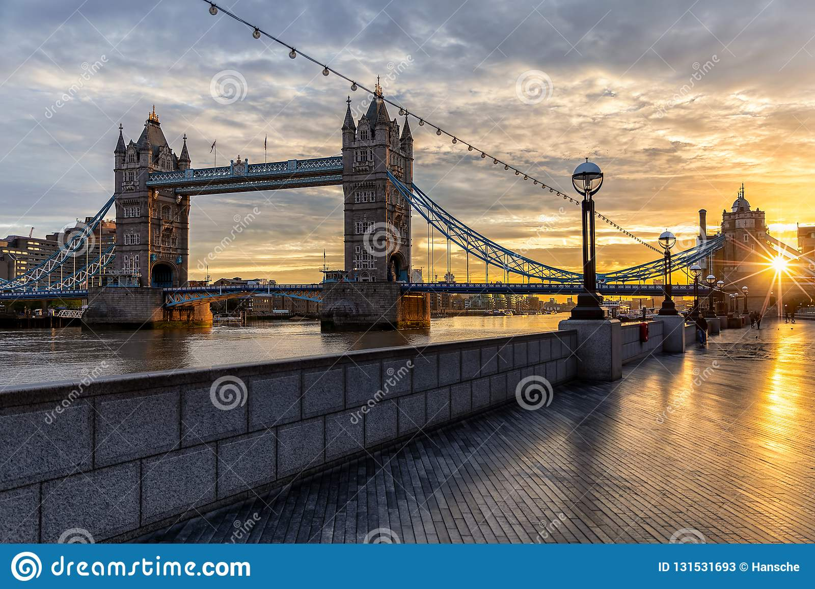 The iconic Tower Bridge in London