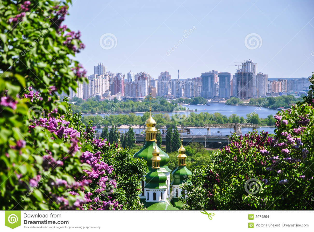 View Of Kiev From The Botanical Garden Royalty Free Stock Photography