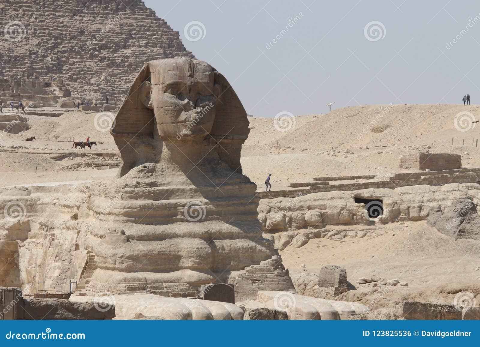 Iconisch, oud en vorstelijk - de Sfinx, Kaïro Egypte