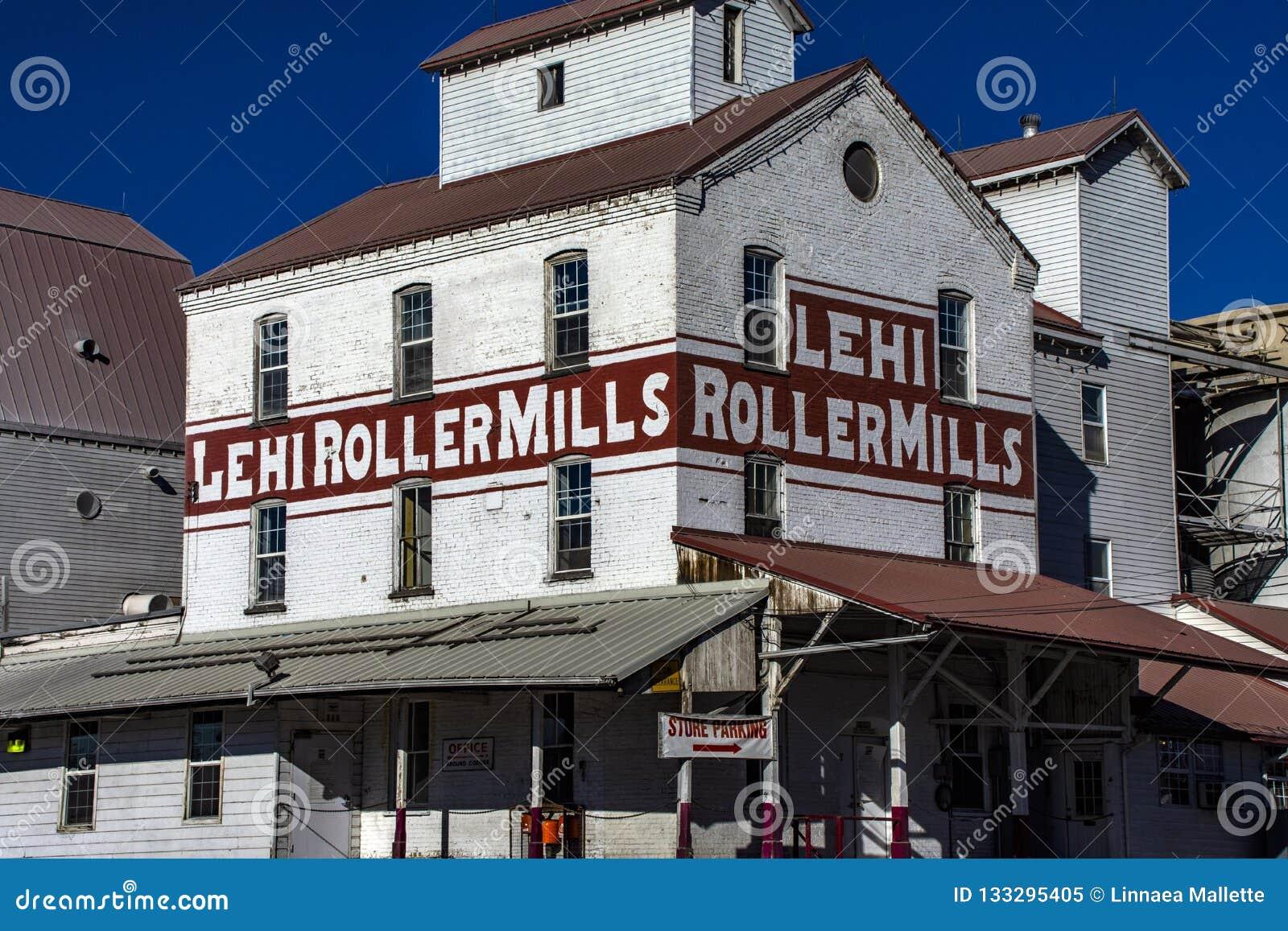 Iconische Graanmolens in de Rolmolens van de V.S. Lehi
