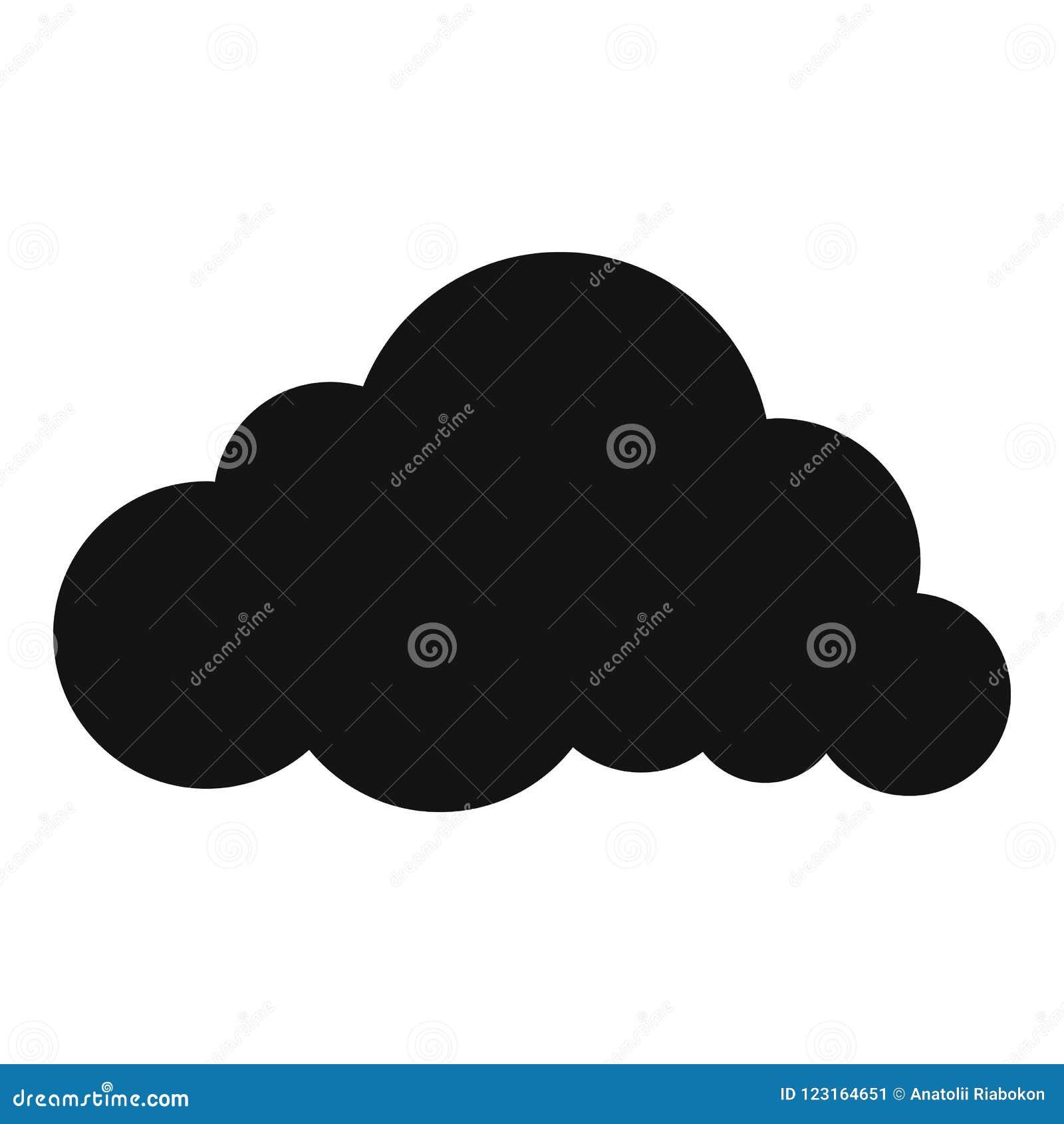 Icono acodado de la nube de lluvia, estilo simple