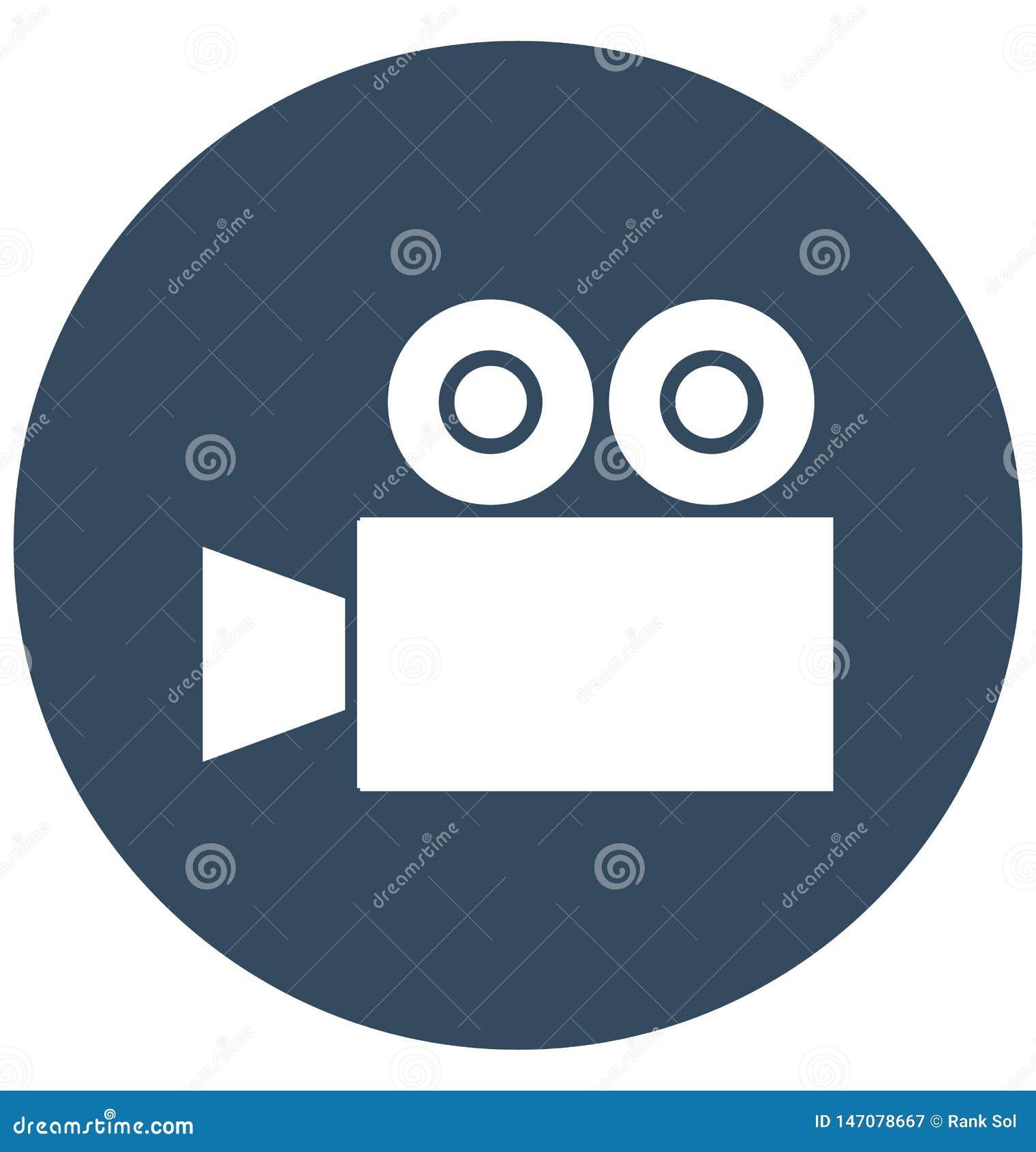 Aisl Shooting icono aislado c?mara del vector que tira que puede modificar