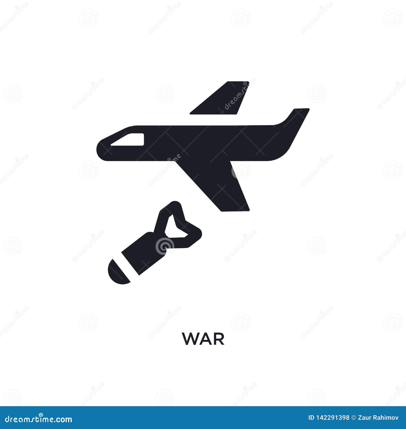 Icono aislado guerra ejemplo simple del elemento de iconos políticos del concepto diseño editable del símbolo de la muestra del l