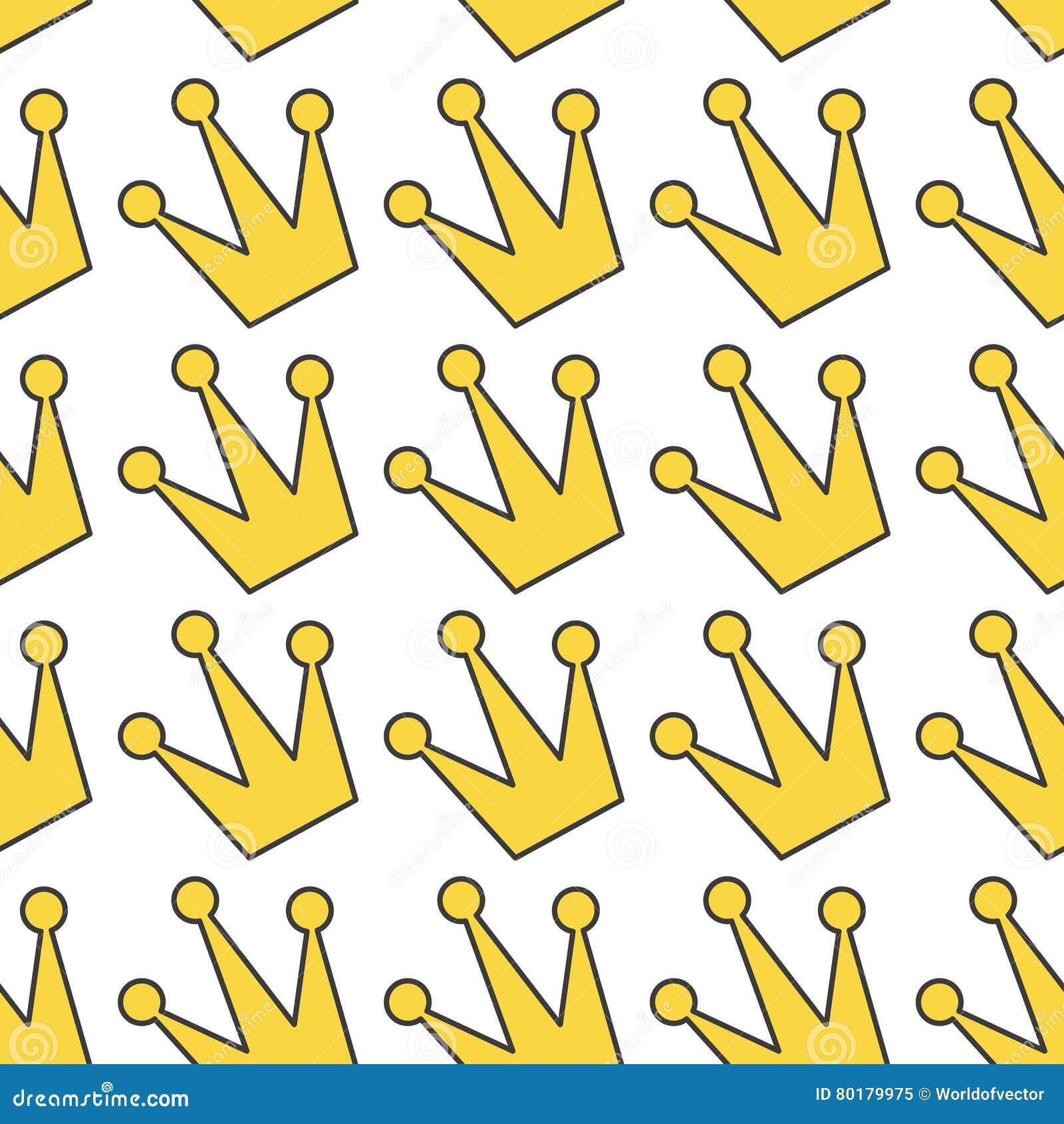 Icono Amarillo De La Corona Del Contorno Del Oro Rey, Reina ...