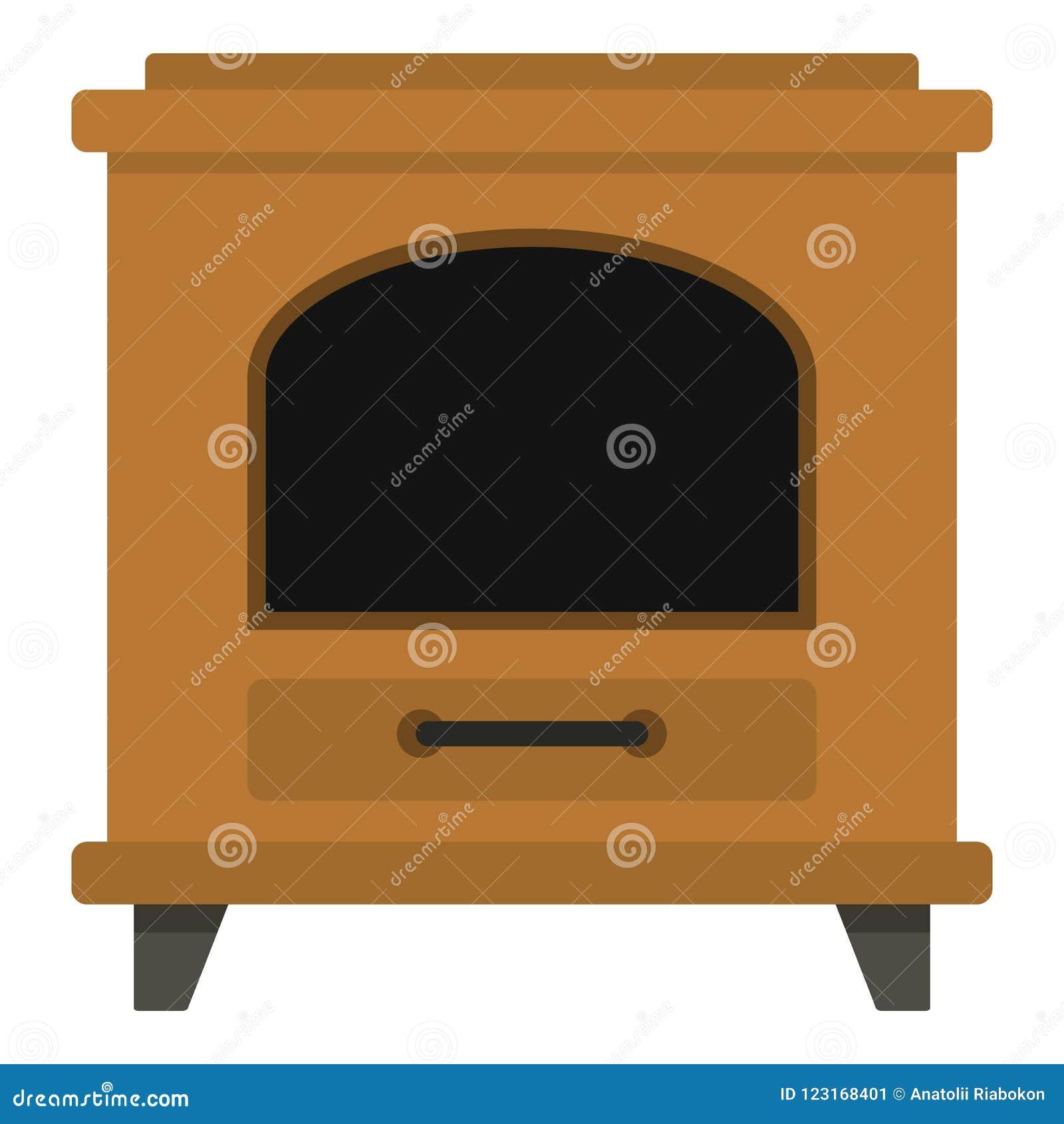 Icono antiguo del horno, estilo de la historieta