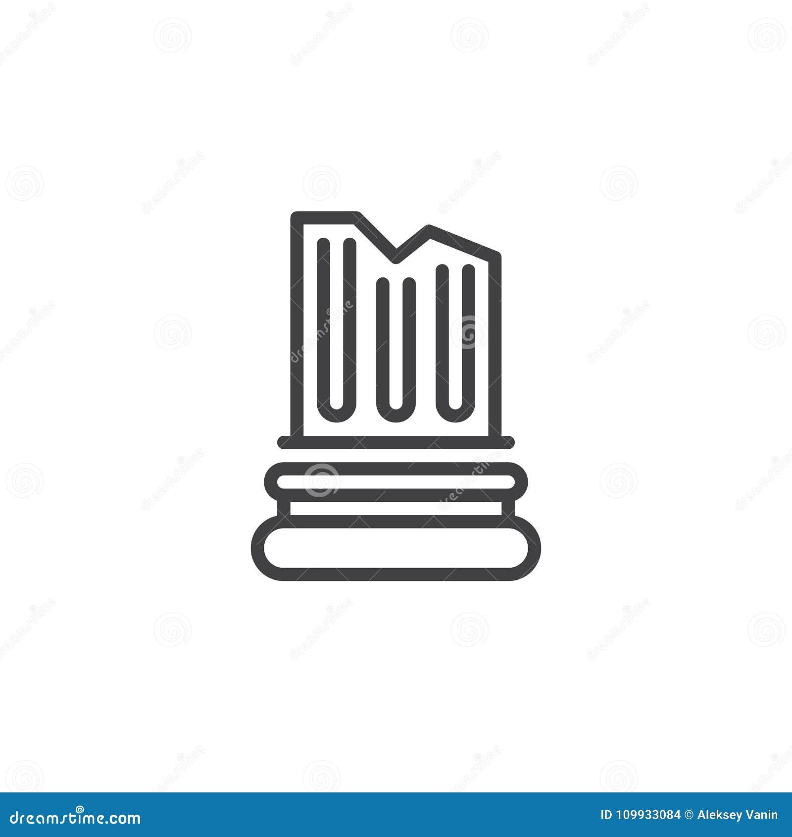 Icono arquitectónico del esquema de la columna