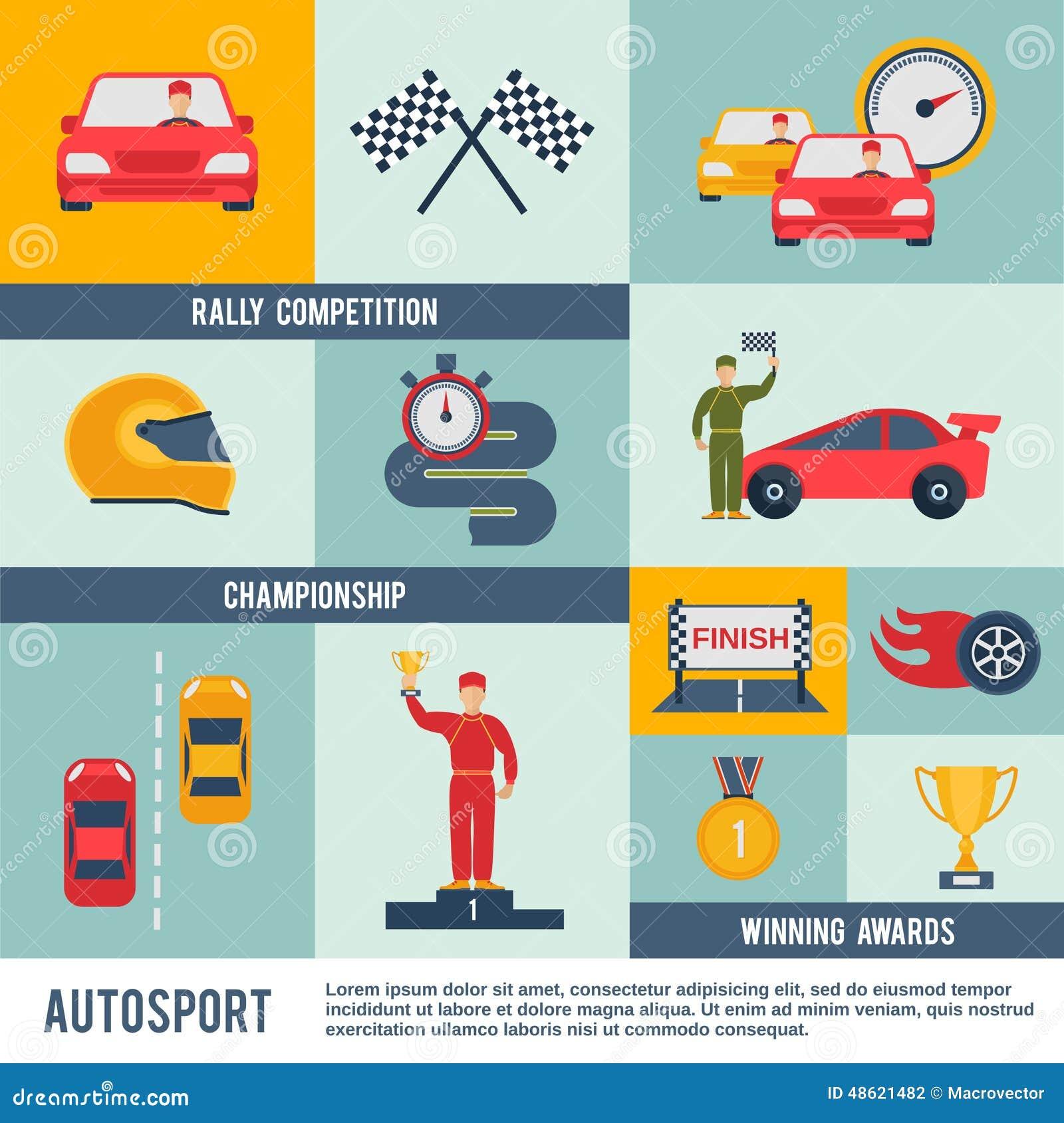 Icono auto del deporte plano