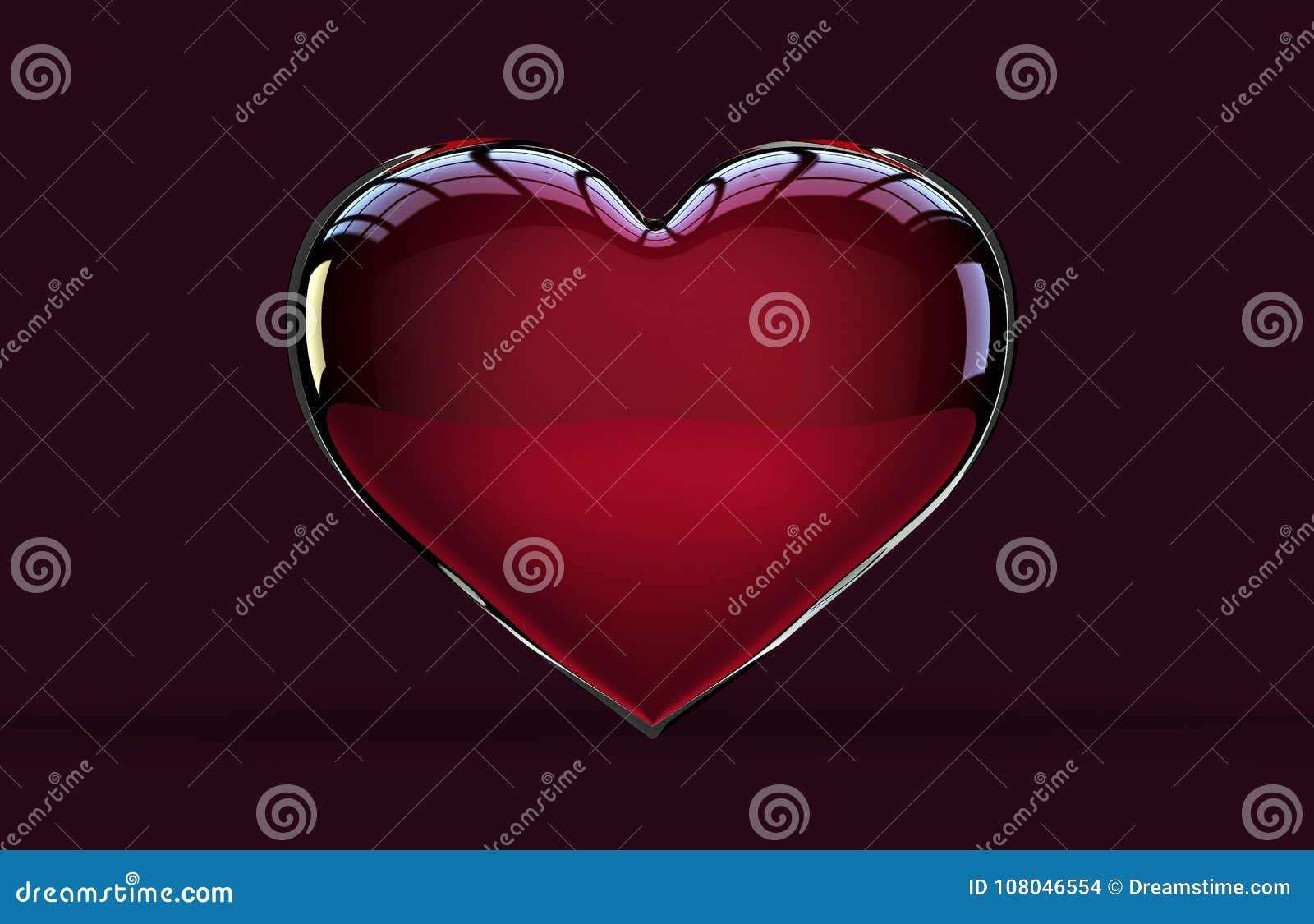 Icono brillante aislado de la forma del corazón
