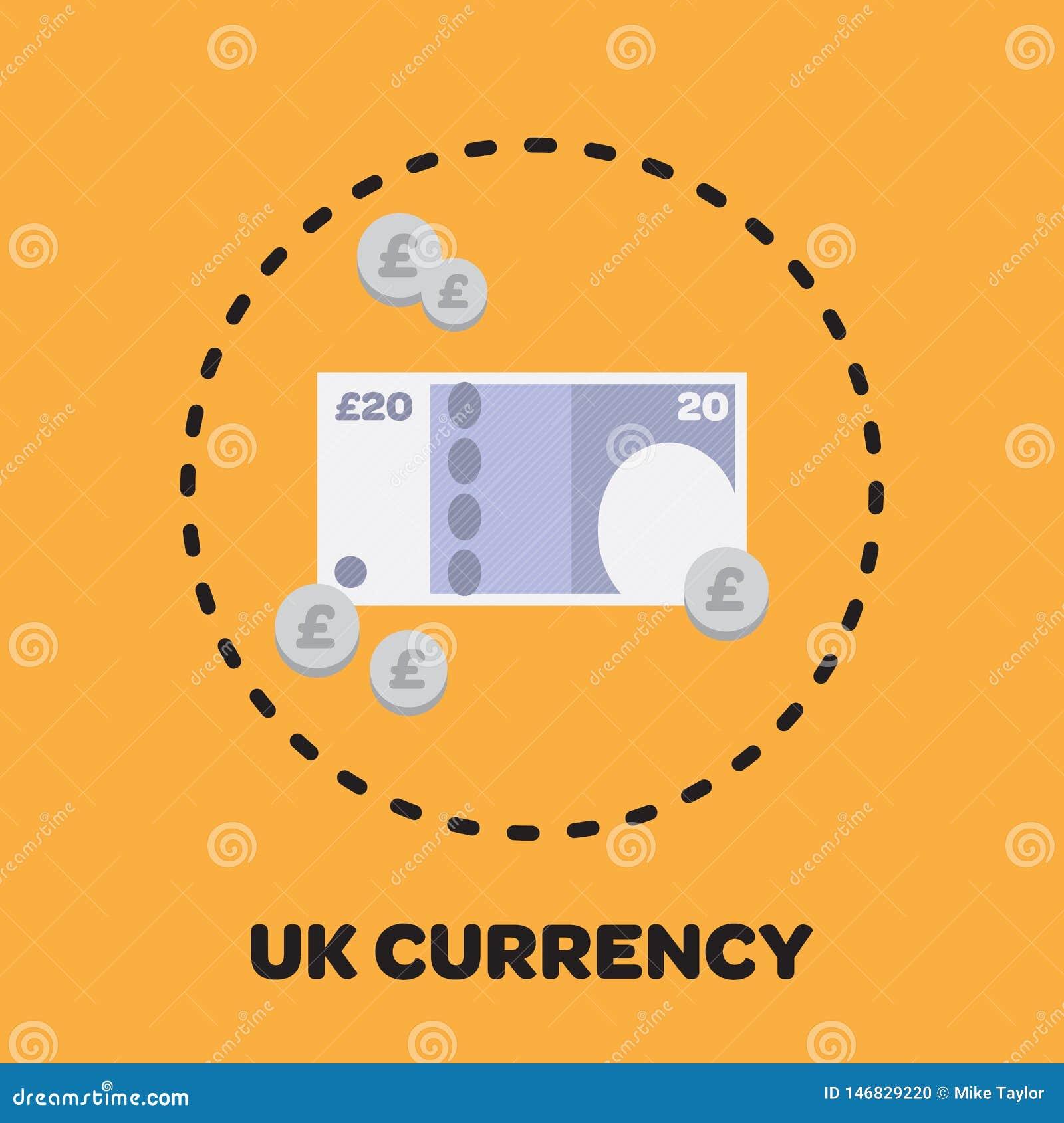 Icono BRITÁNICO ilustrado del dinero