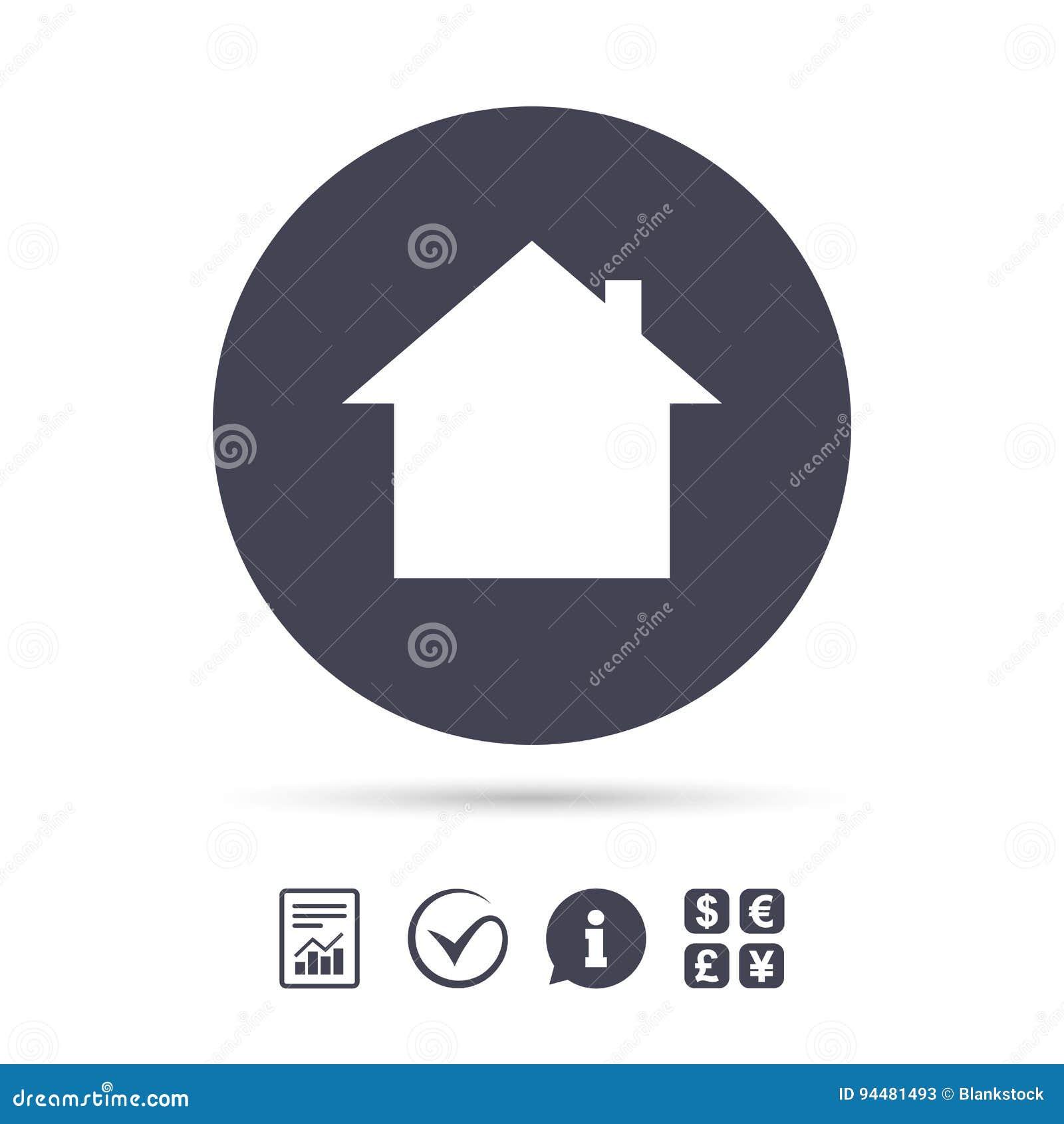 Icono casero de la muestra Botón de la página principal nearsighted