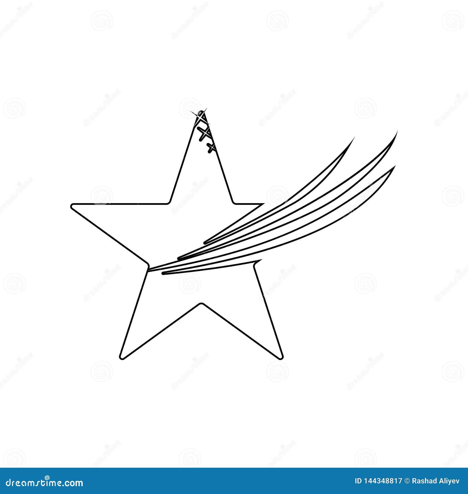 Icono Cinco-acentuado de la estrella Elemento de las estrellas para el concepto y el icono m?viles de los apps de la web Esquema,