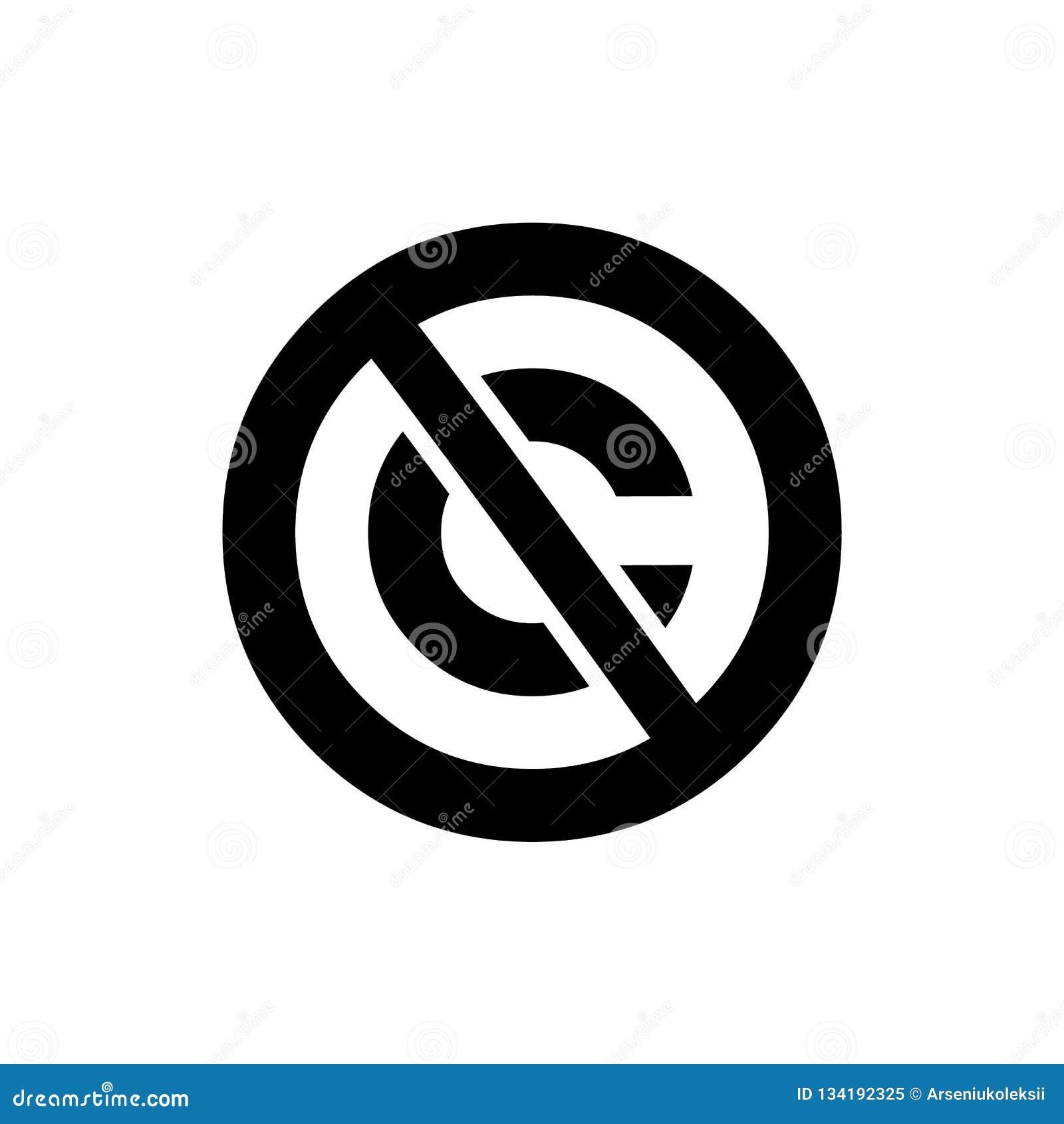 Icono circular del public domain Hacia fuera cruzada muestra de la marca registrada de la letra de C